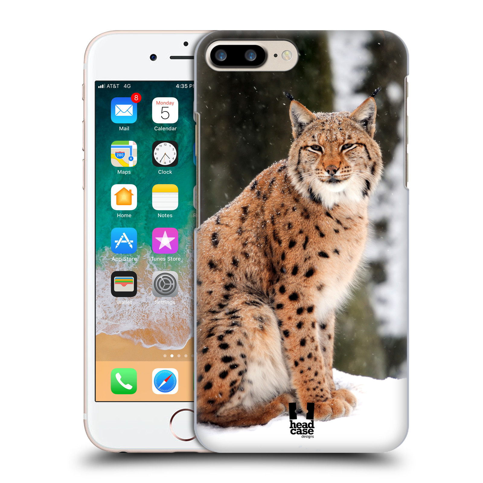 HEAD CASE plastový obal na mobil Apple Iphone 7 PLUS vzor slavná zvířata foto rys