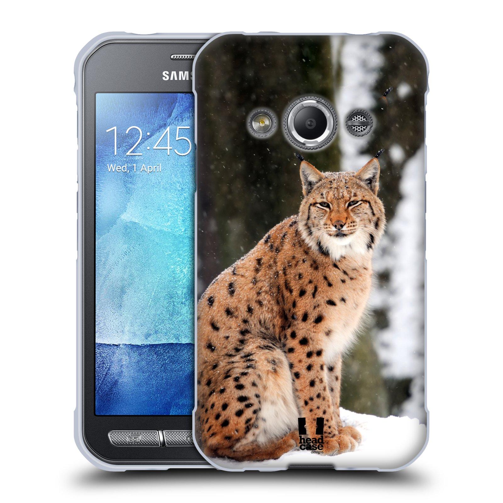 HEAD CASE silikonový obal na mobil Samsung Galaxy Xcover 3 vzor slavná zvířata foto rys