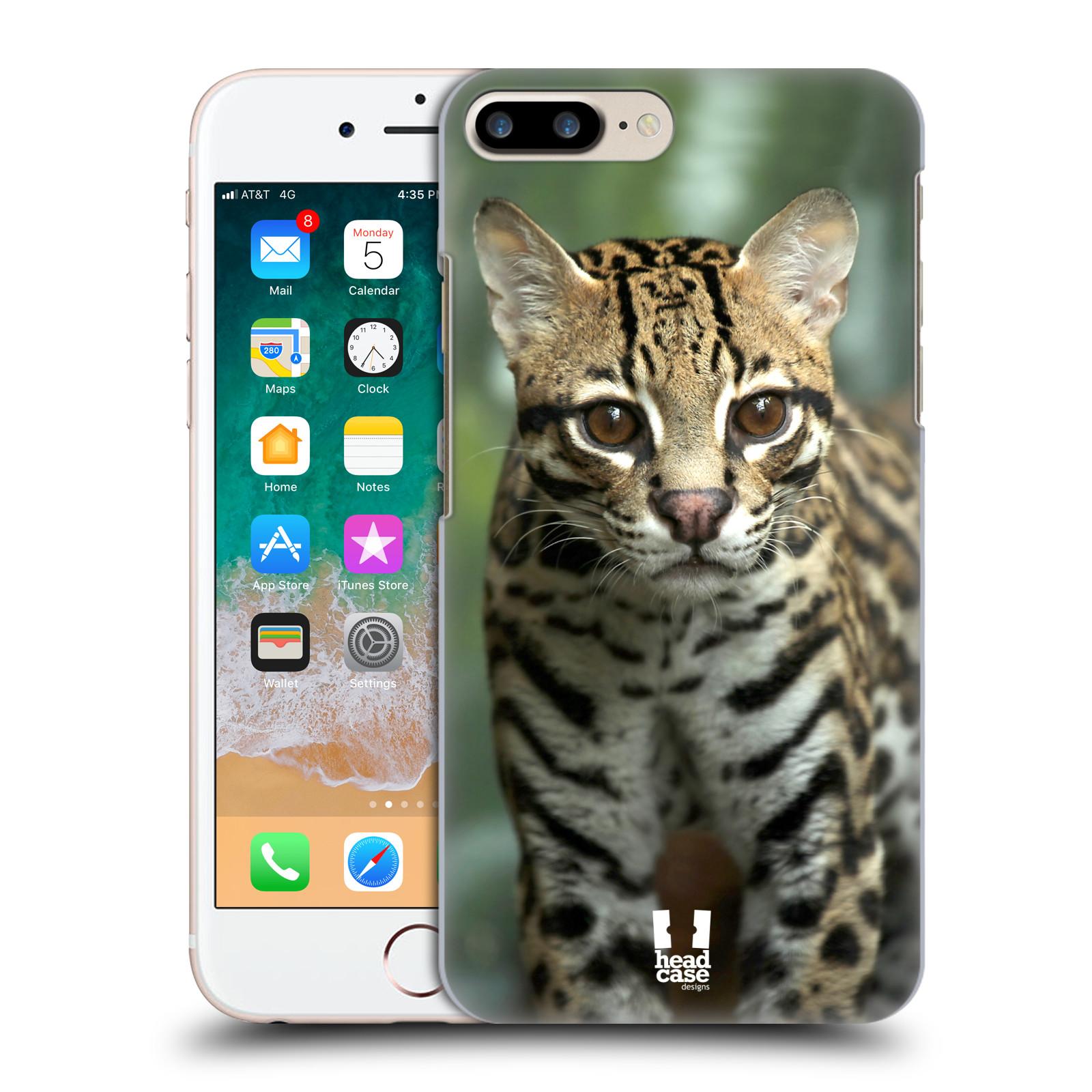 HEAD CASE plastový obal na mobil Apple Iphone 7 PLUS vzor slavná zvířata foto ocelot