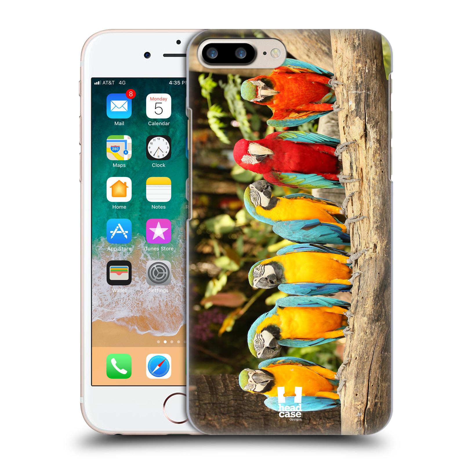 HEAD CASE plastový obal na mobil Apple Iphone 7 PLUS vzor slavná zvířata foto papoušci
