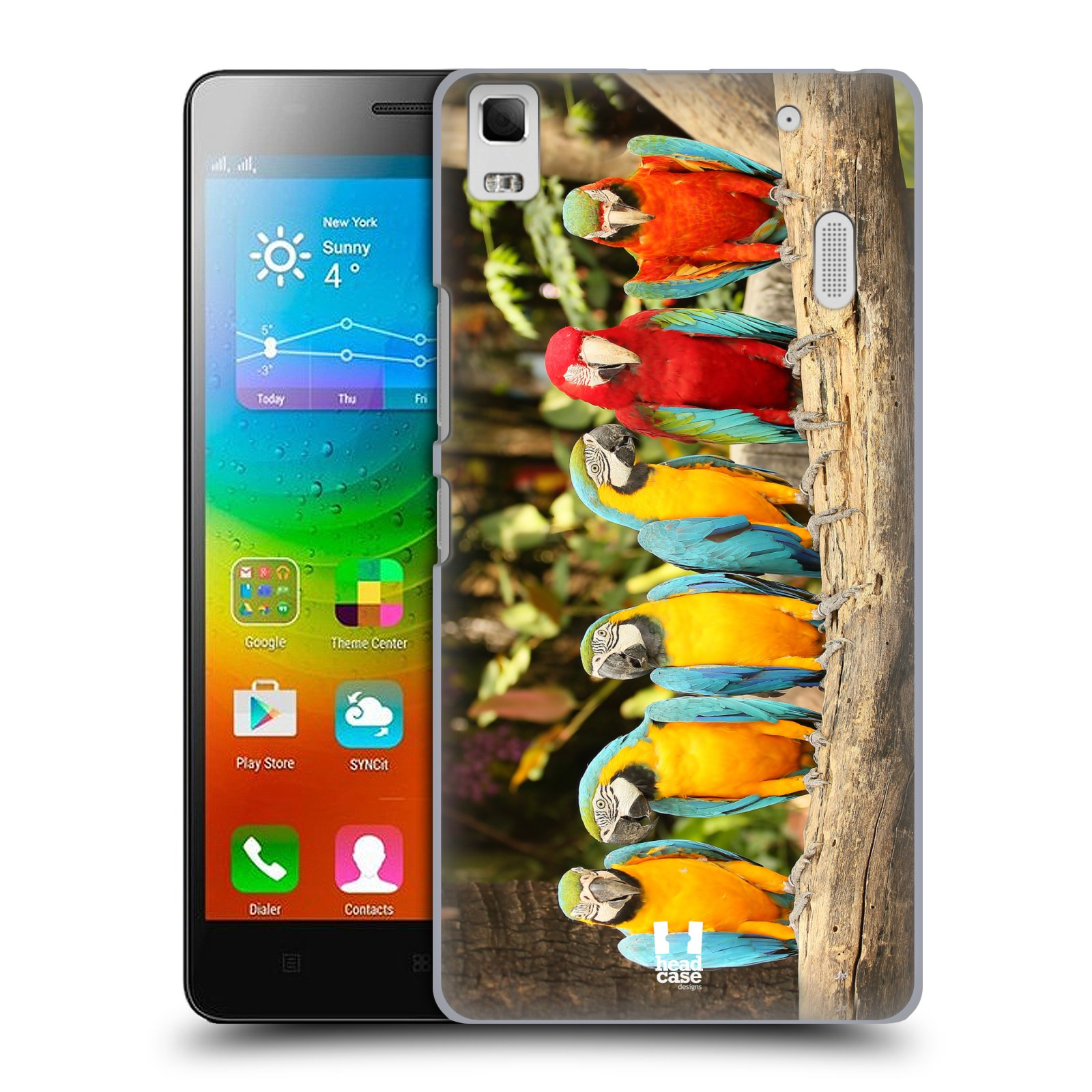 HEAD CASE pevný plastový obal na mobil LENOVO A7000 / A7000 DUAL / K3 NOTE vzor slavná zvířata foto papoušci