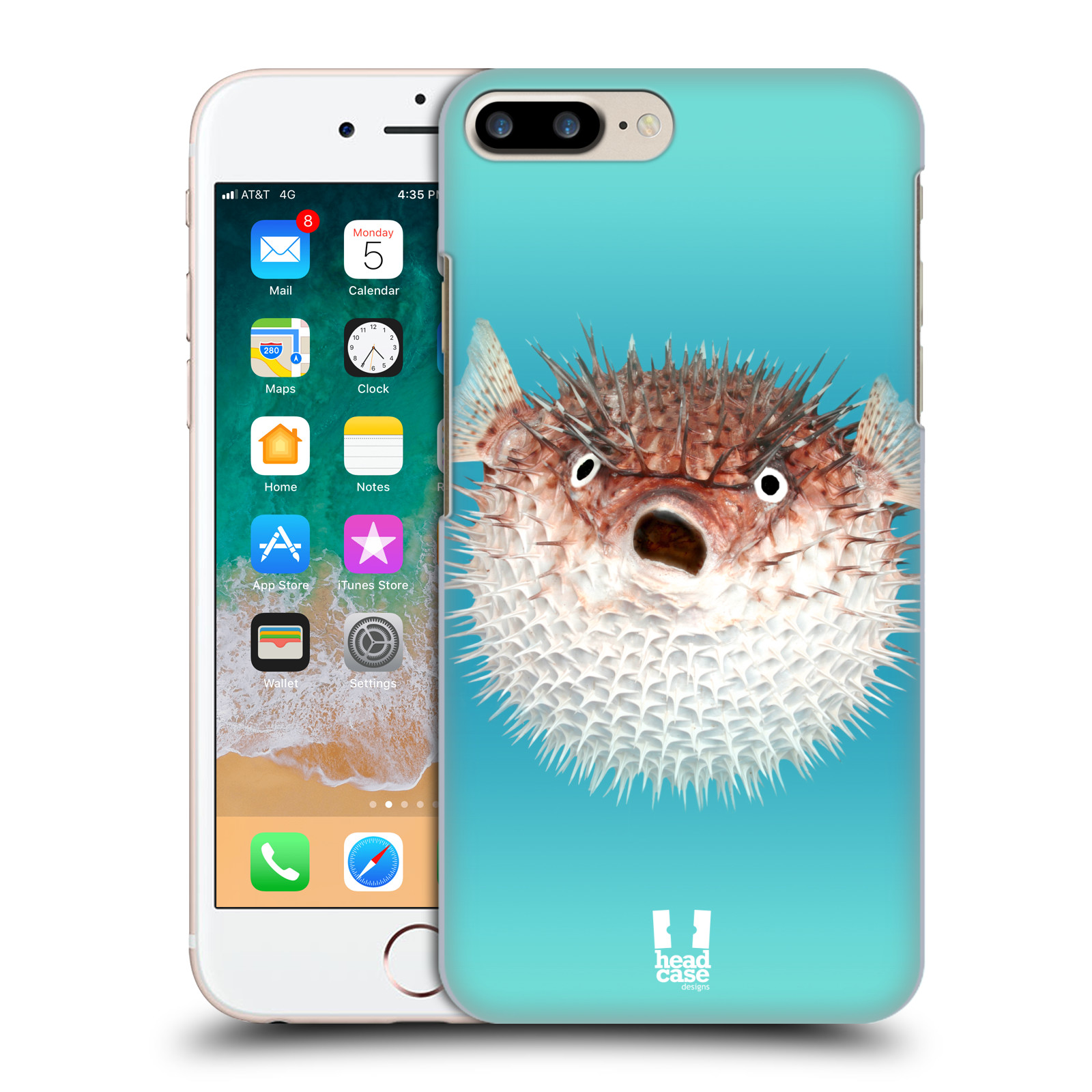 HEAD CASE plastový obal na mobil Apple Iphone 7 PLUS vzor slavná zvířata foto ježík hnědý