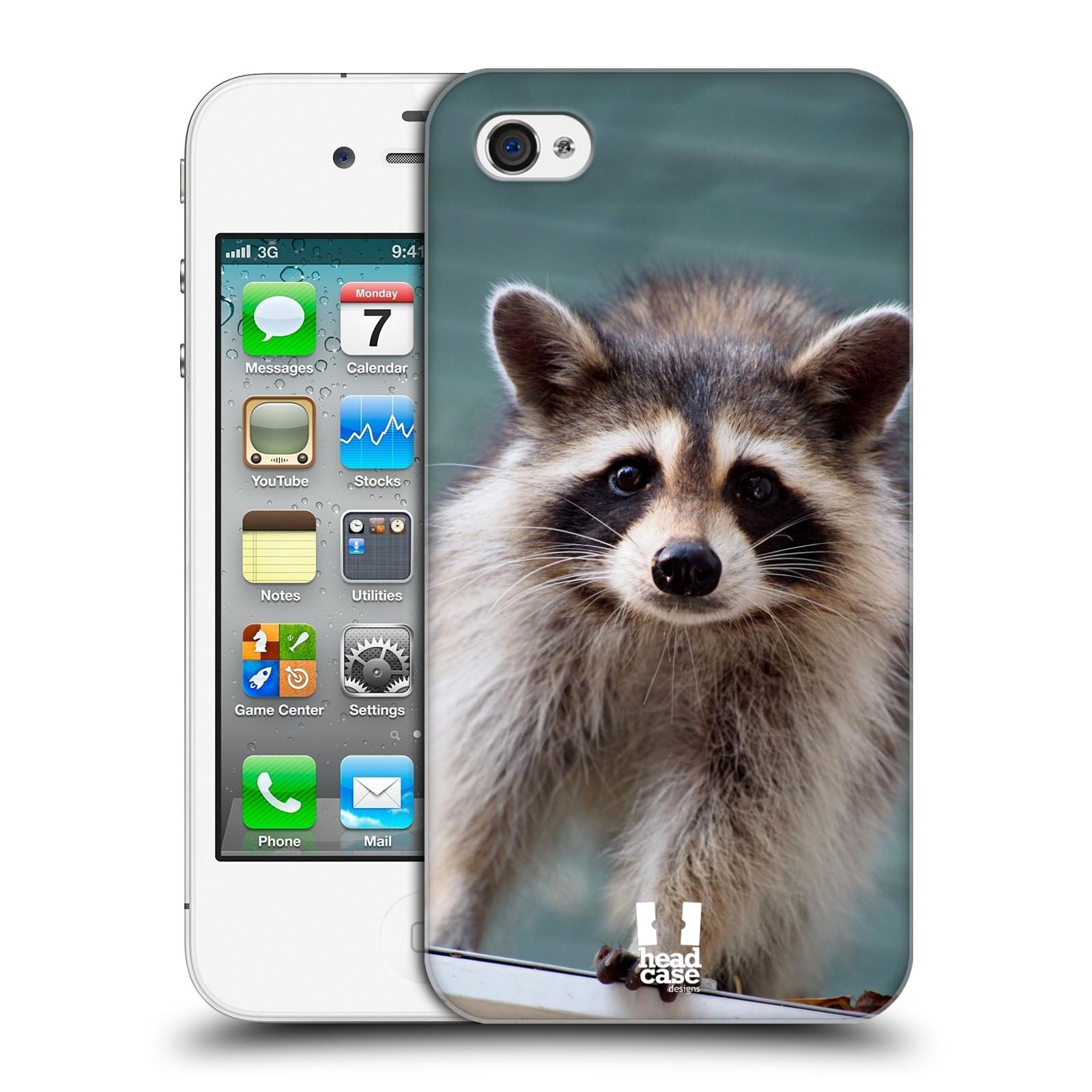 HEAD CASE plastový obal na mobil Apple Iphone 4/4S vzor slavná zvířata foto malý mýval