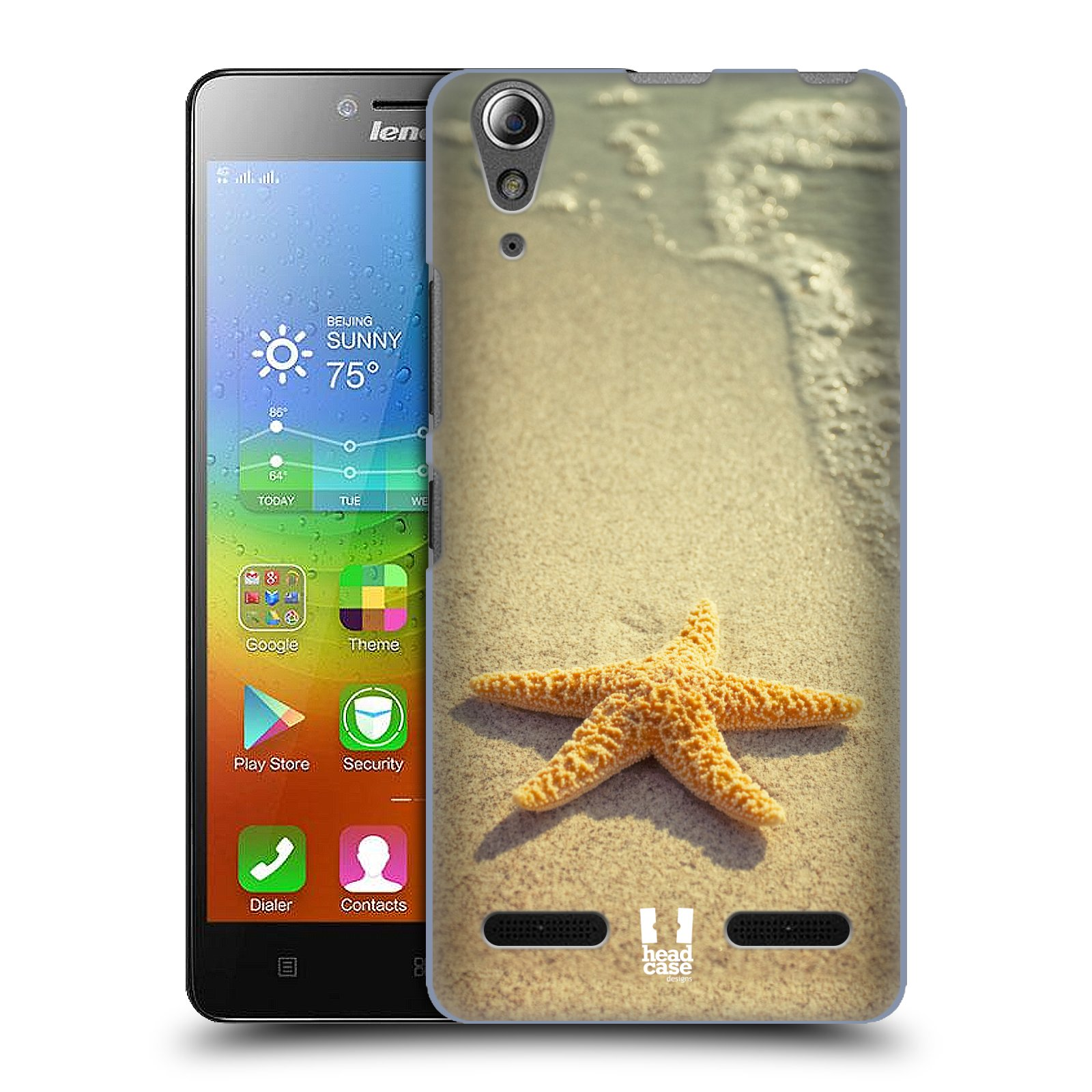HEAD CASE pevný plastový obal na mobil LENOVO A6000 / A6000 PLUS vzor slavná zvířata foto hvězda na břehu