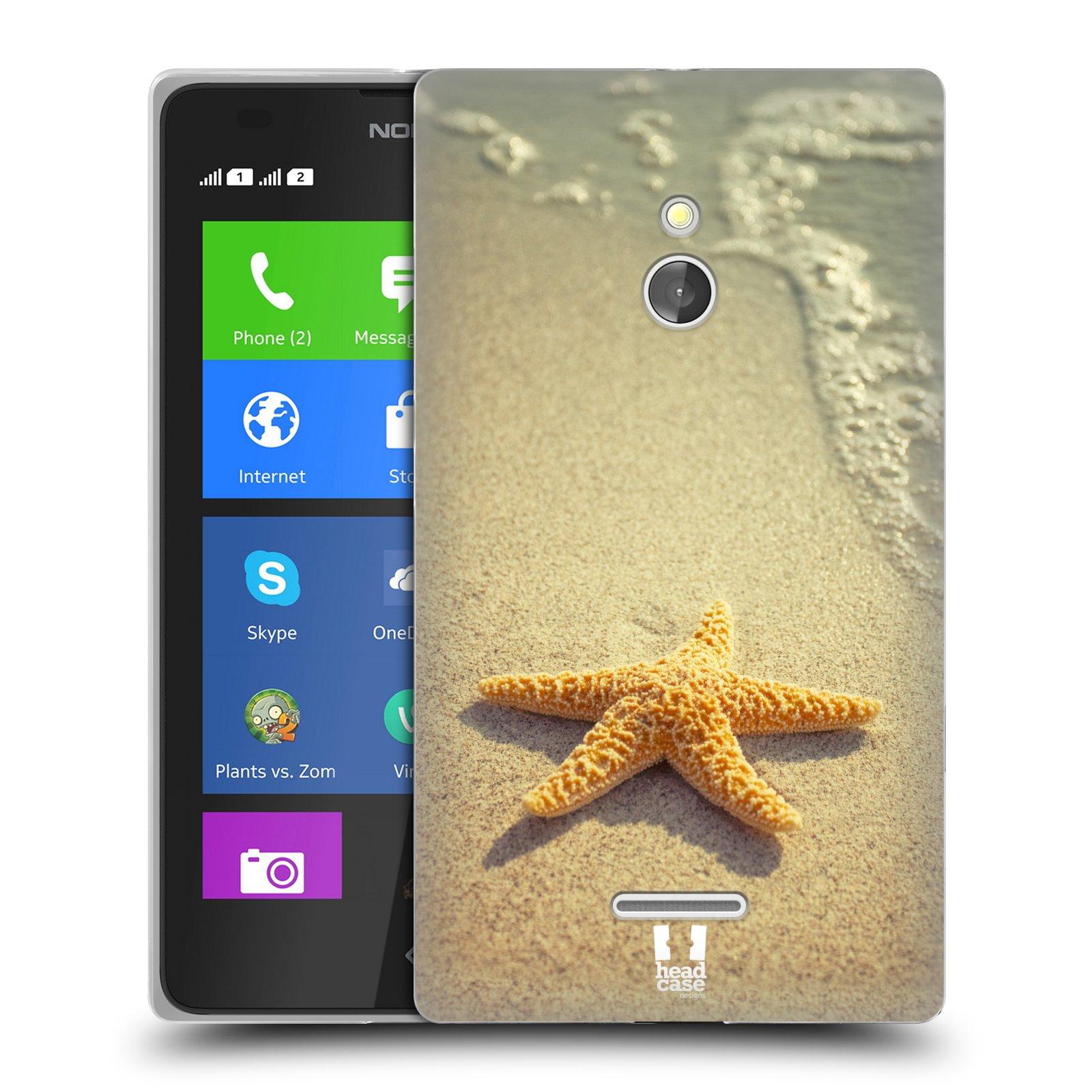 HEAD CASE silikonový obal na mobil NOKIA XL / NOKIA XL DUAL SIM vzor slavná zvířata foto hvězda na břehu