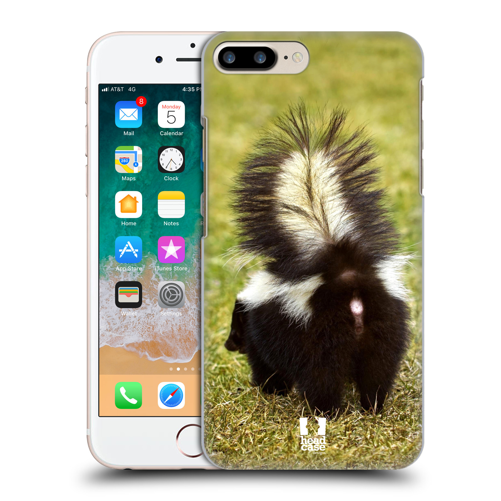 HEAD CASE plastový obal na mobil Apple Iphone 7 PLUS vzor slavná zvířata foto skunk