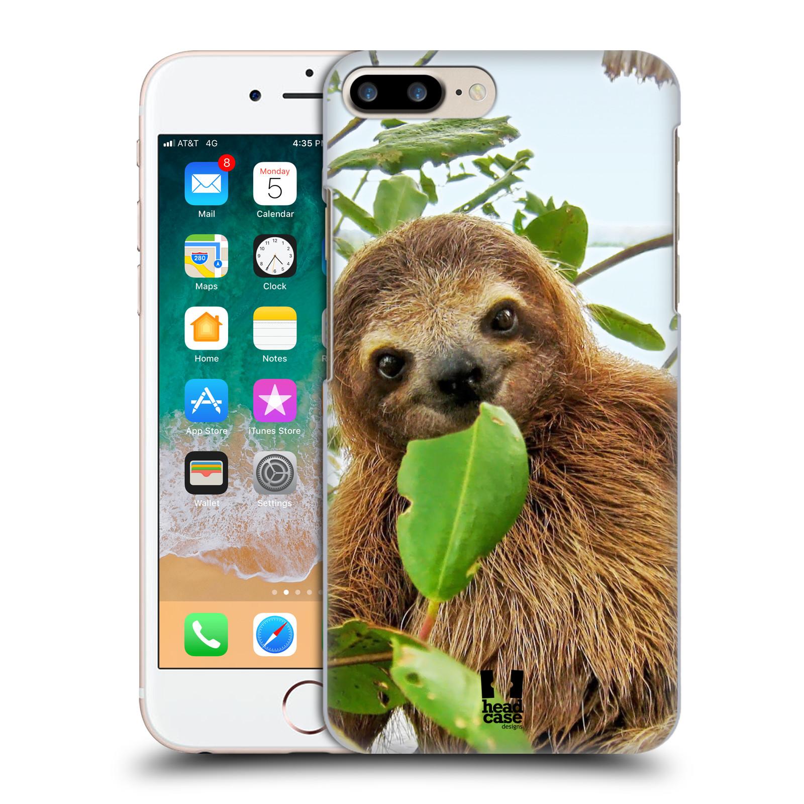 HEAD CASE plastový obal na mobil Apple Iphone 7 PLUS vzor slavná zvířata foto lenochod