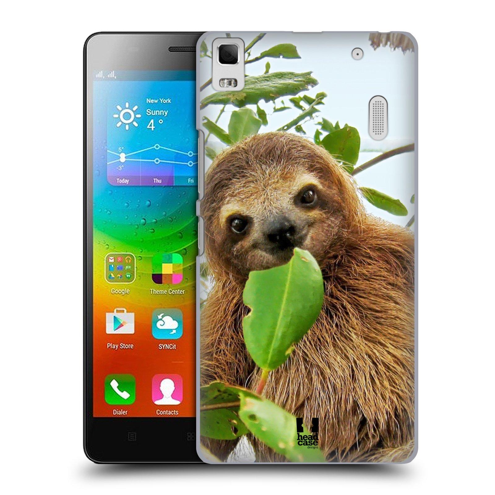 HEAD CASE pevný plastový obal na mobil LENOVO A7000 / A7000 DUAL / K3 NOTE vzor slavná zvířata foto lenochod