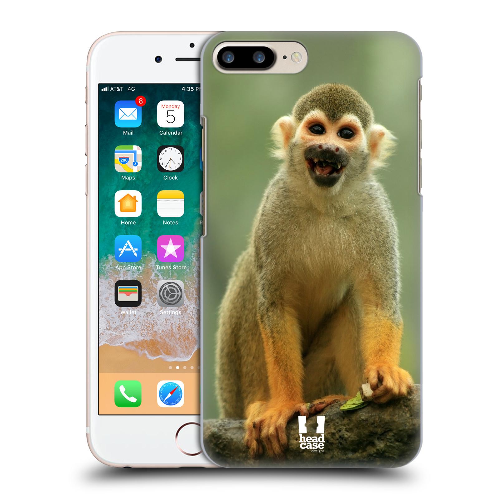 HEAD CASE plastový obal na mobil Apple Iphone 7 PLUS vzor slavná zvířata foto opice