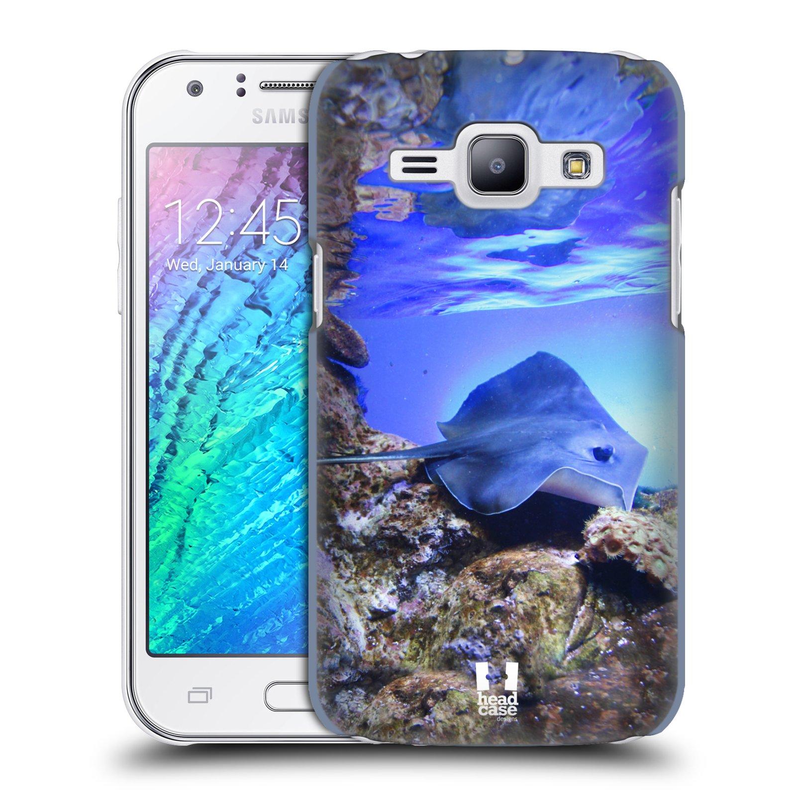HEAD CASE plastový obal na mobil SAMSUNG Galaxy J1, J100 vzor slavná zvířata foto rejnok