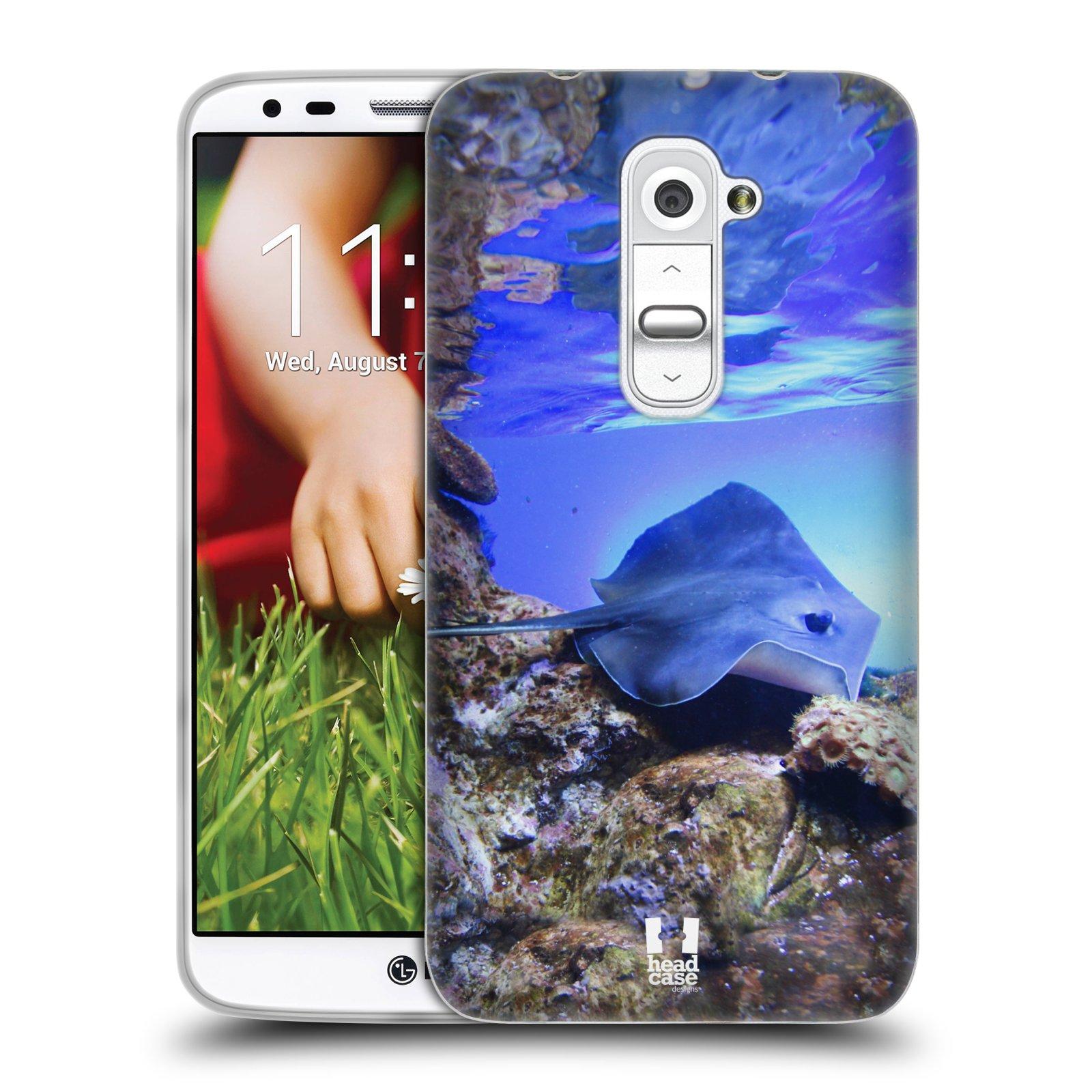 HEAD CASE silikonový obal na mobil LG G2 vzor slavná zvířata foto rejnok