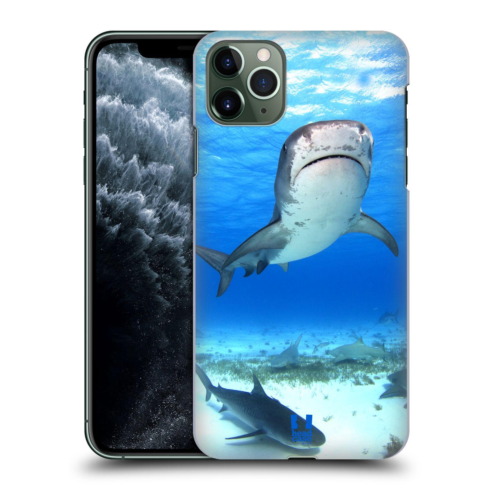 Pouzdro na mobil Apple Iphone 11 PRO MAX - HEAD CASE - vzor slavná zvířata foto žralok tygří