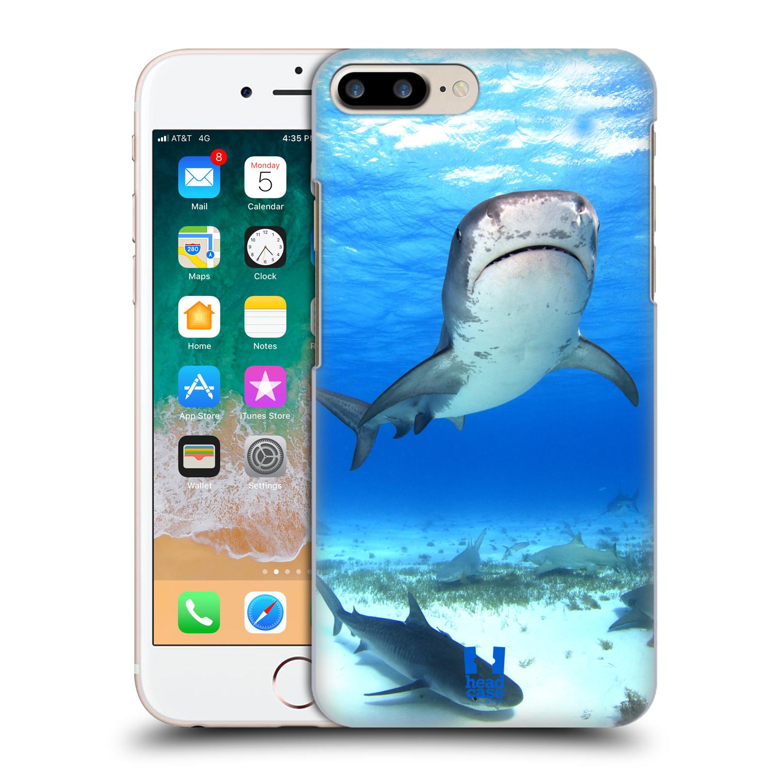 HEAD CASE plastový obal na mobil Apple Iphone 7 PLUS vzor slavná zvířata foto žralok tygří