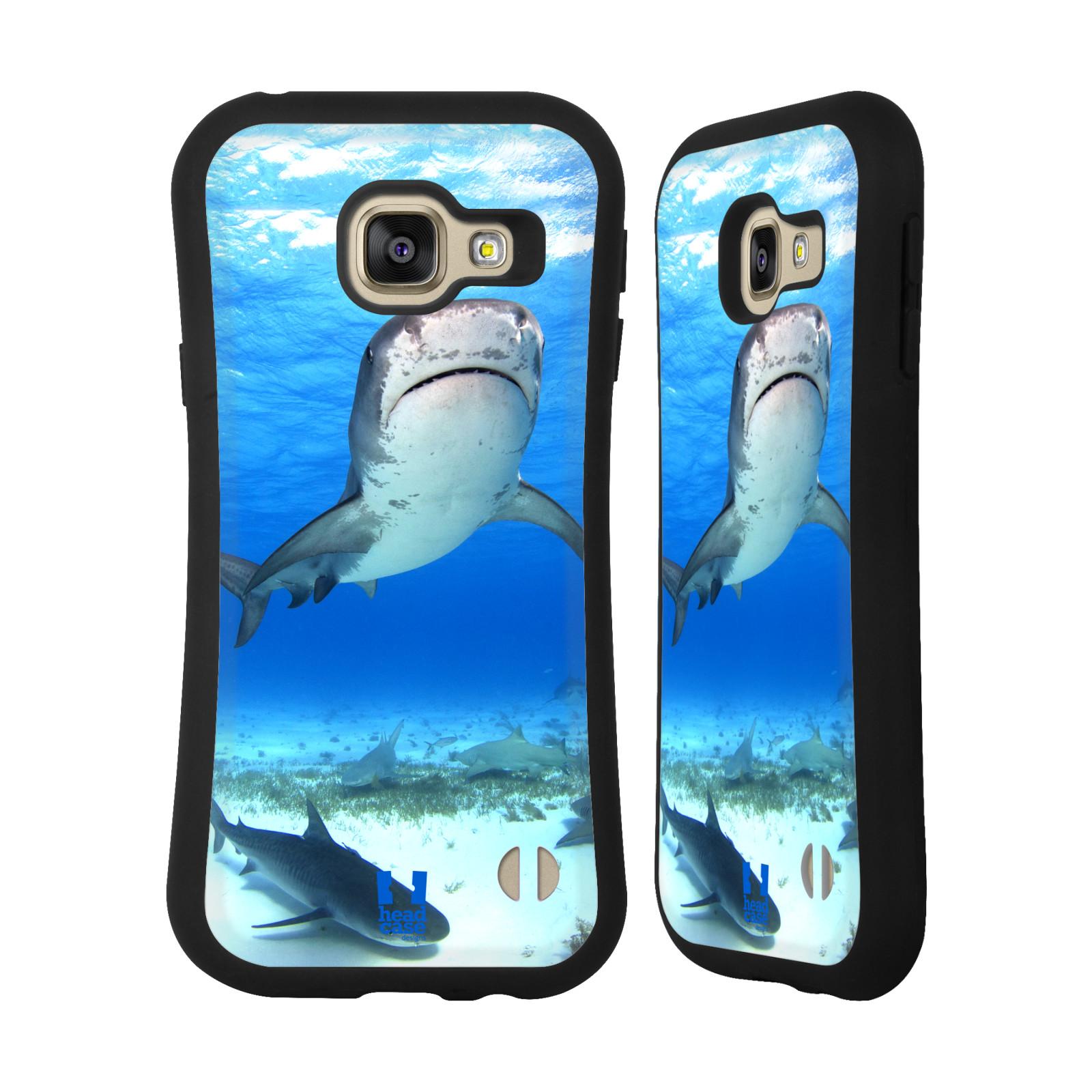 HEAD CASE silikon/plast odolný obal na mobil Samsung Galaxy A3 2016 vzor slavná zvířata foto žralok tygří