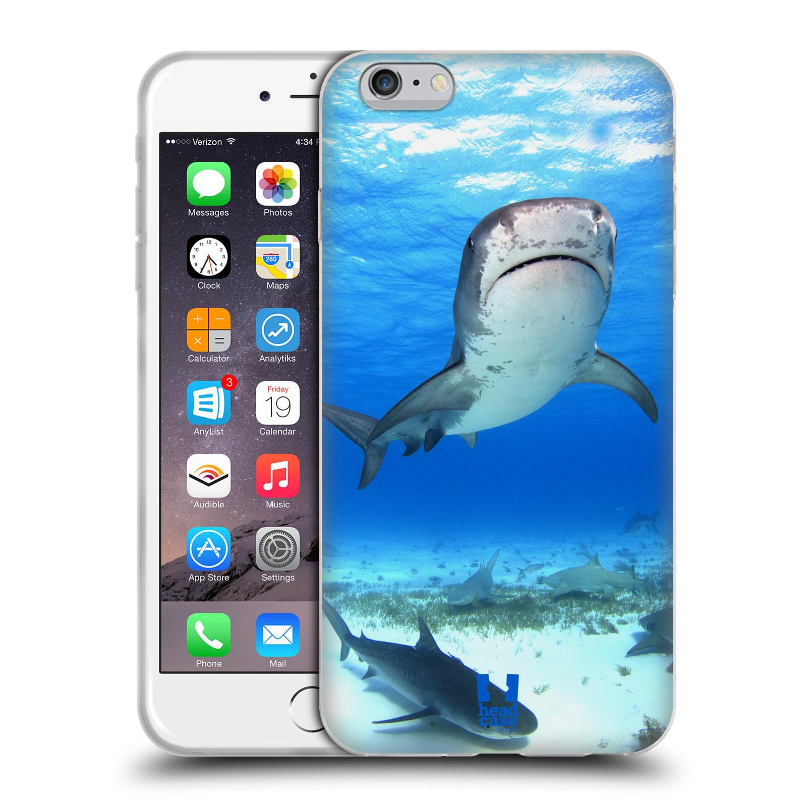 HEAD CASE silikonový obal na mobil Apple Iphone 6 PLUS/ 6S PLUS vzor slavná zvířata foto žralok tygří