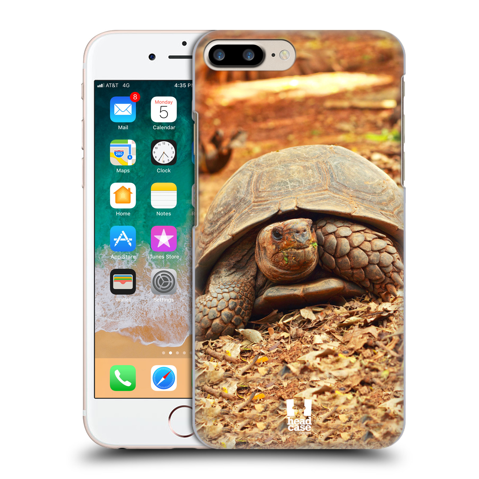 HEAD CASE plastový obal na mobil Apple Iphone 7 PLUS vzor slavná zvířata foto želva