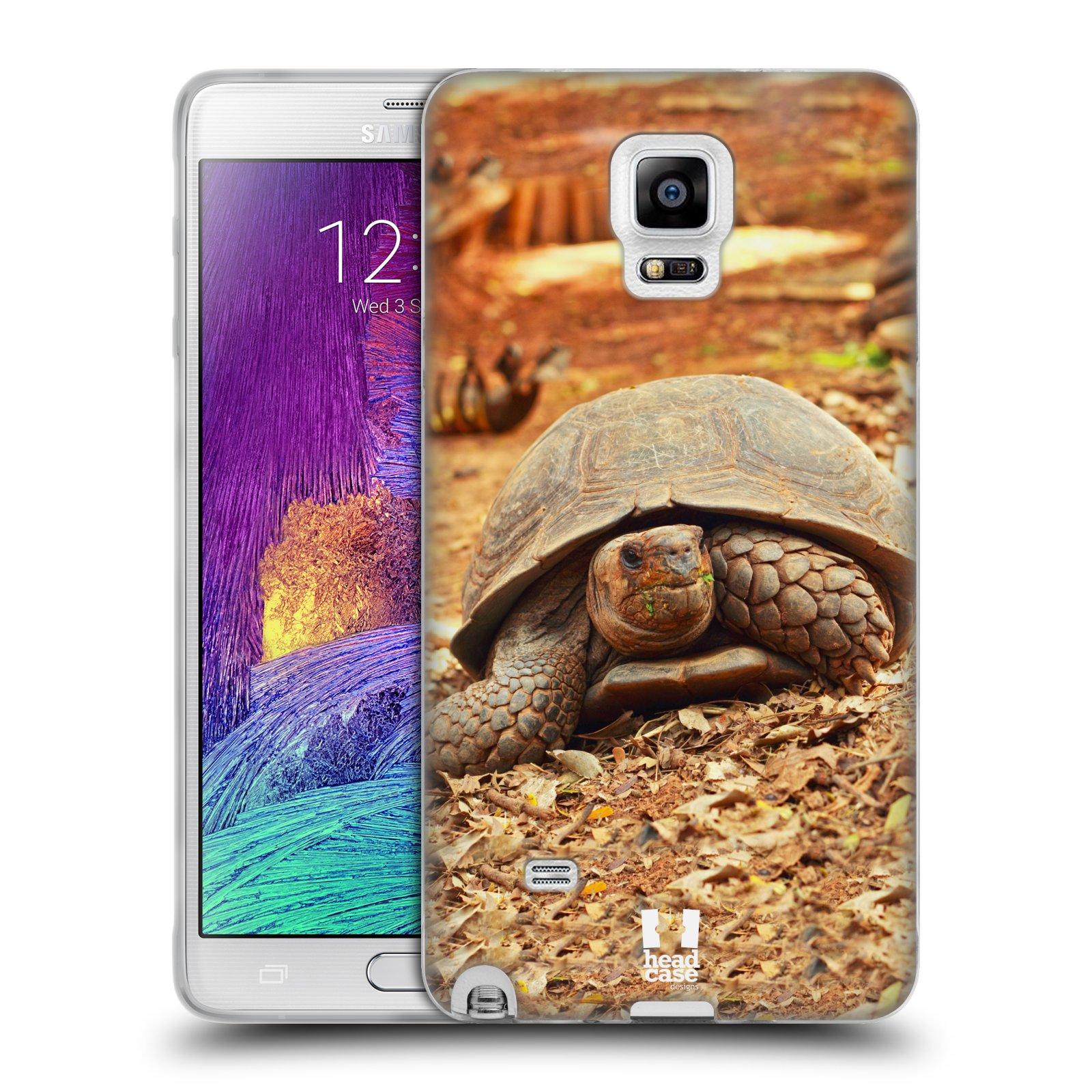HEAD CASE silikonový obal na mobil Samsung Galaxy Note 4 (N910) vzor slavná zvířata foto želva
