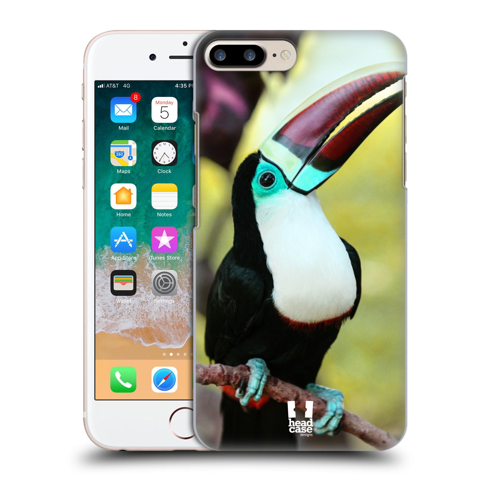 HEAD CASE plastový obal na mobil Apple Iphone 7 PLUS vzor slavná zvířata foto tukan