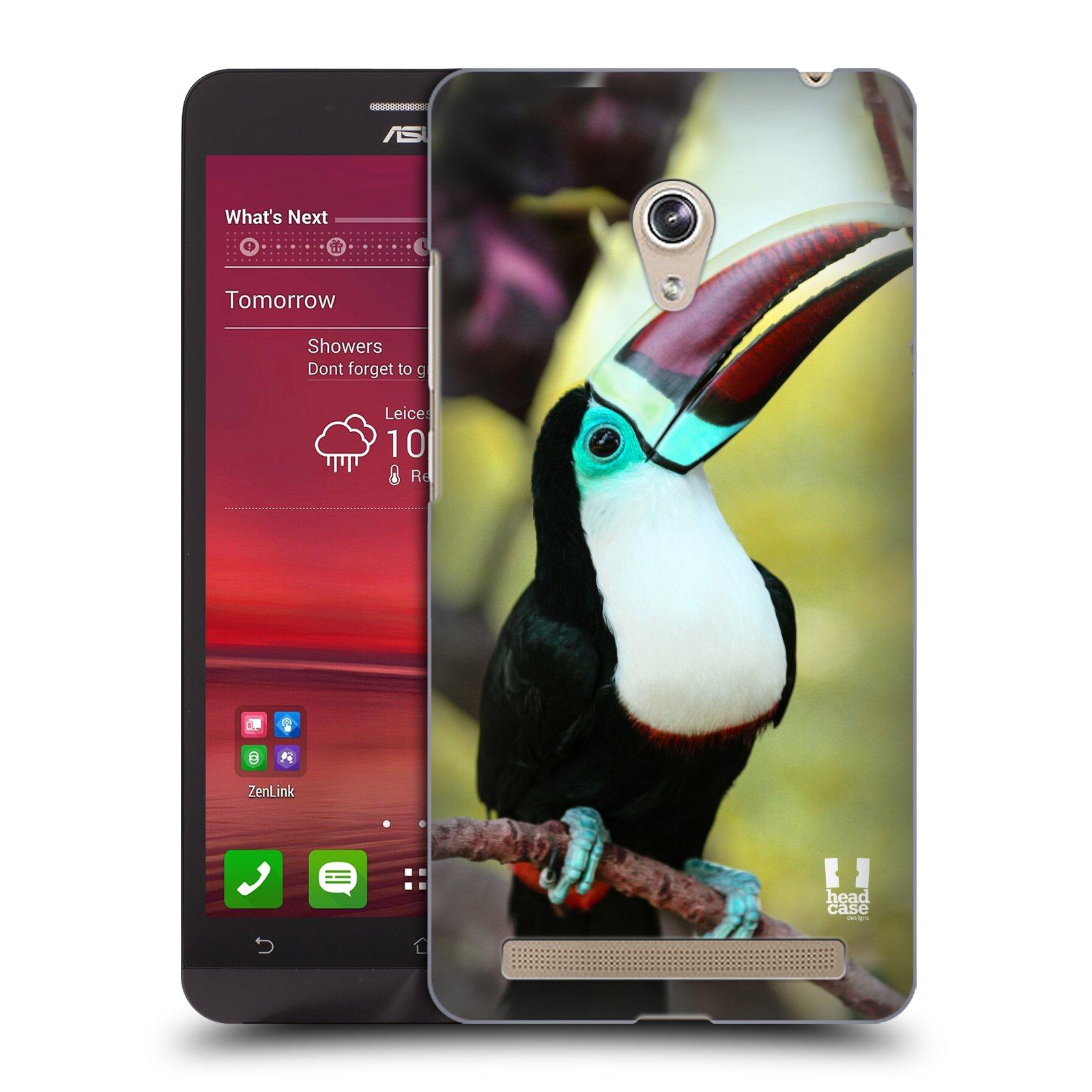 HEAD CASE plastový obal na mobil Asus Zenfone 6 vzor slavná zvířata foto tukan