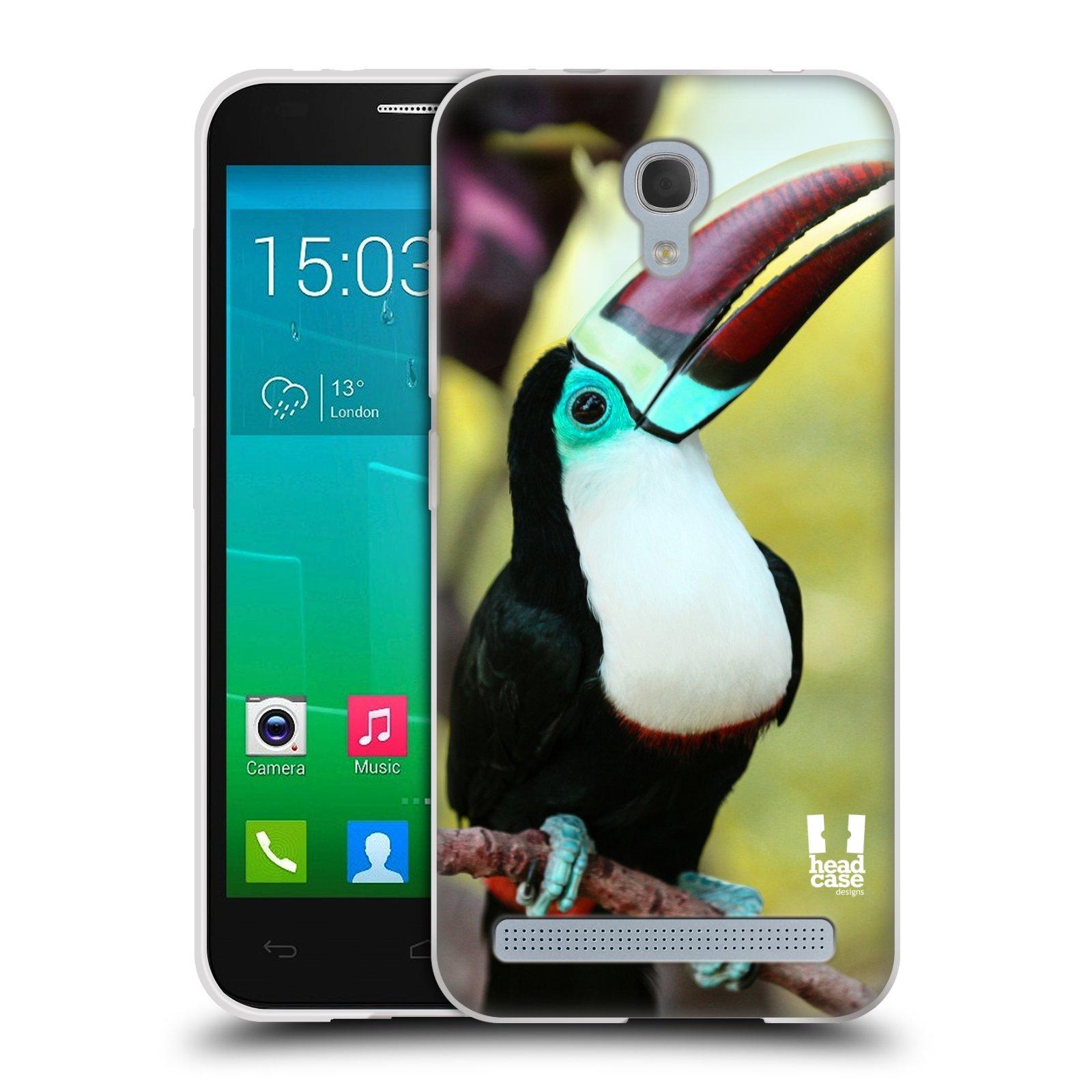 HEAD CASE silikonový obal na mobil Alcatel Idol 2 MINI S 6036Y vzor slavná zvířata foto tukan