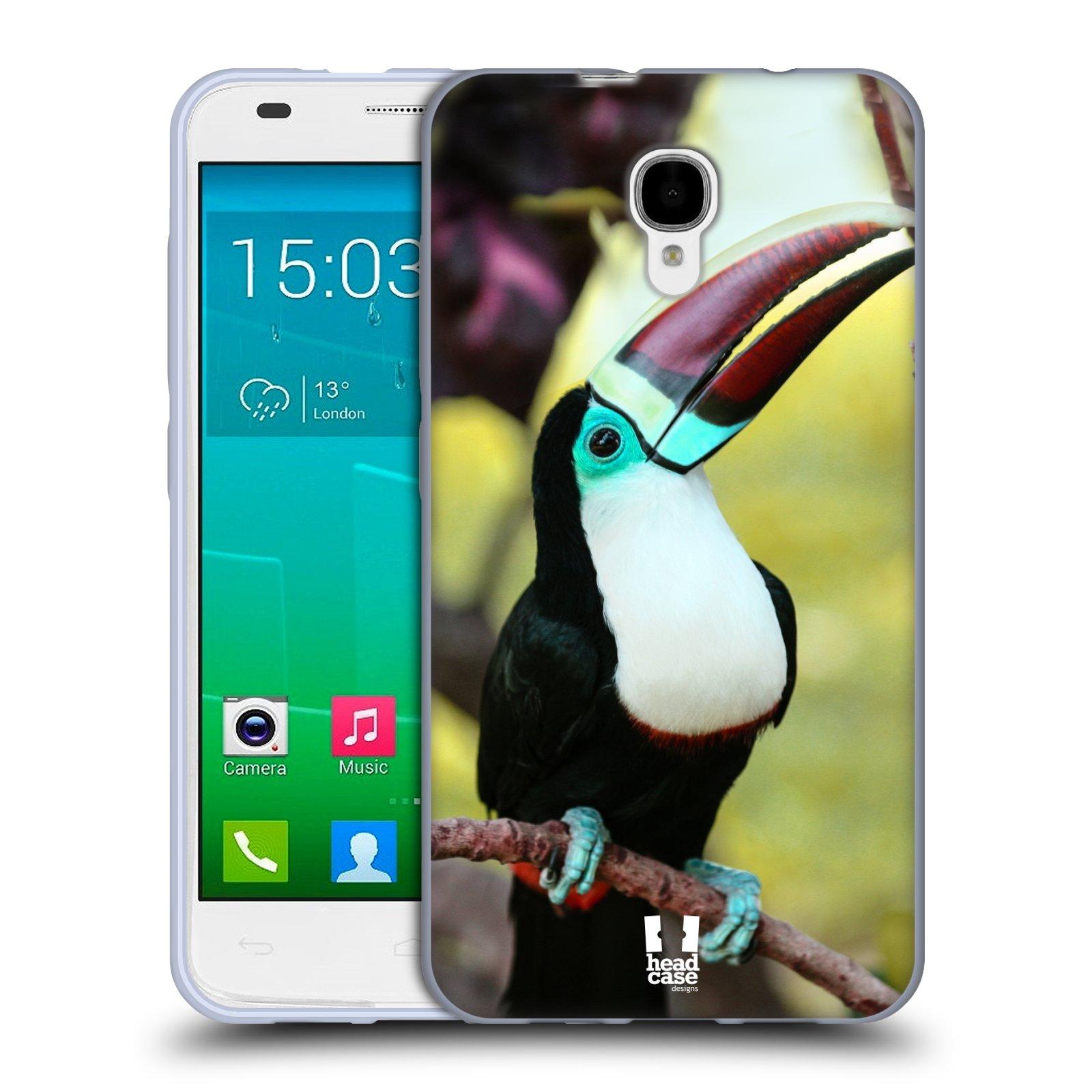 HEAD CASE silikonový obal na mobil Alcatel Idol 2 S OT-6050 vzor slavná zvířata foto tukan