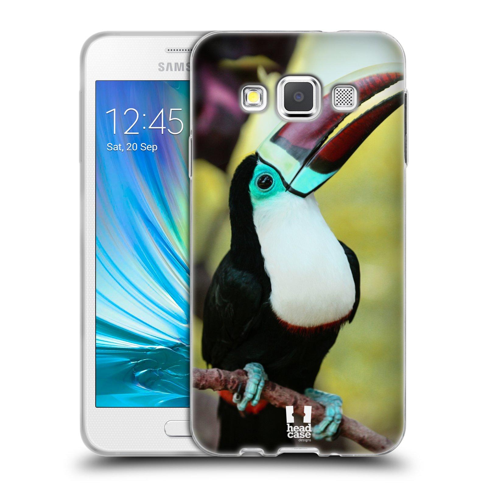 HEAD CASE silikonový obal na mobil Samsung Galaxy A3 vzor slavná zvířata foto tukan