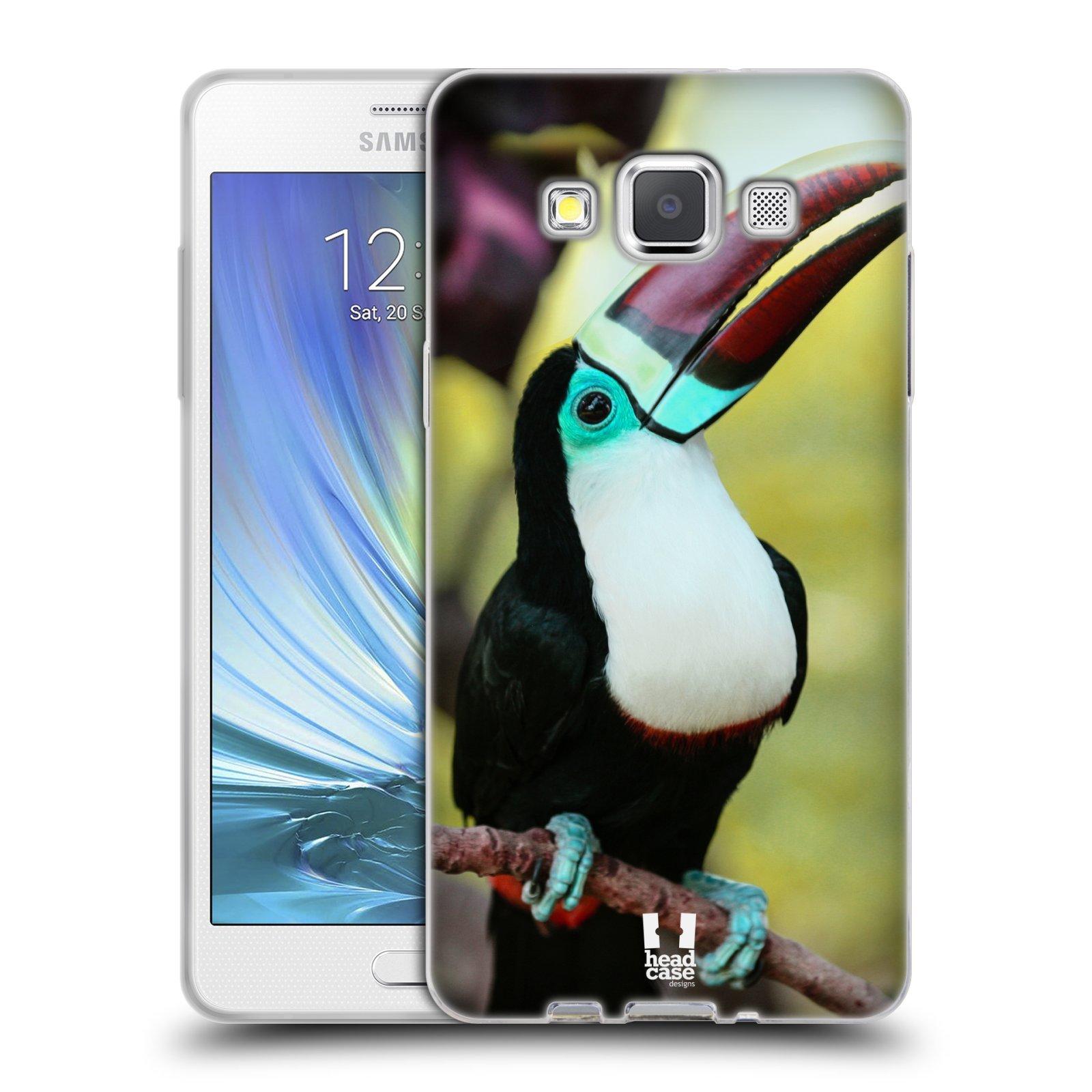 HEAD CASE silikonový obal na mobil Samsung Galaxy A5 vzor slavná zvířata foto tukan