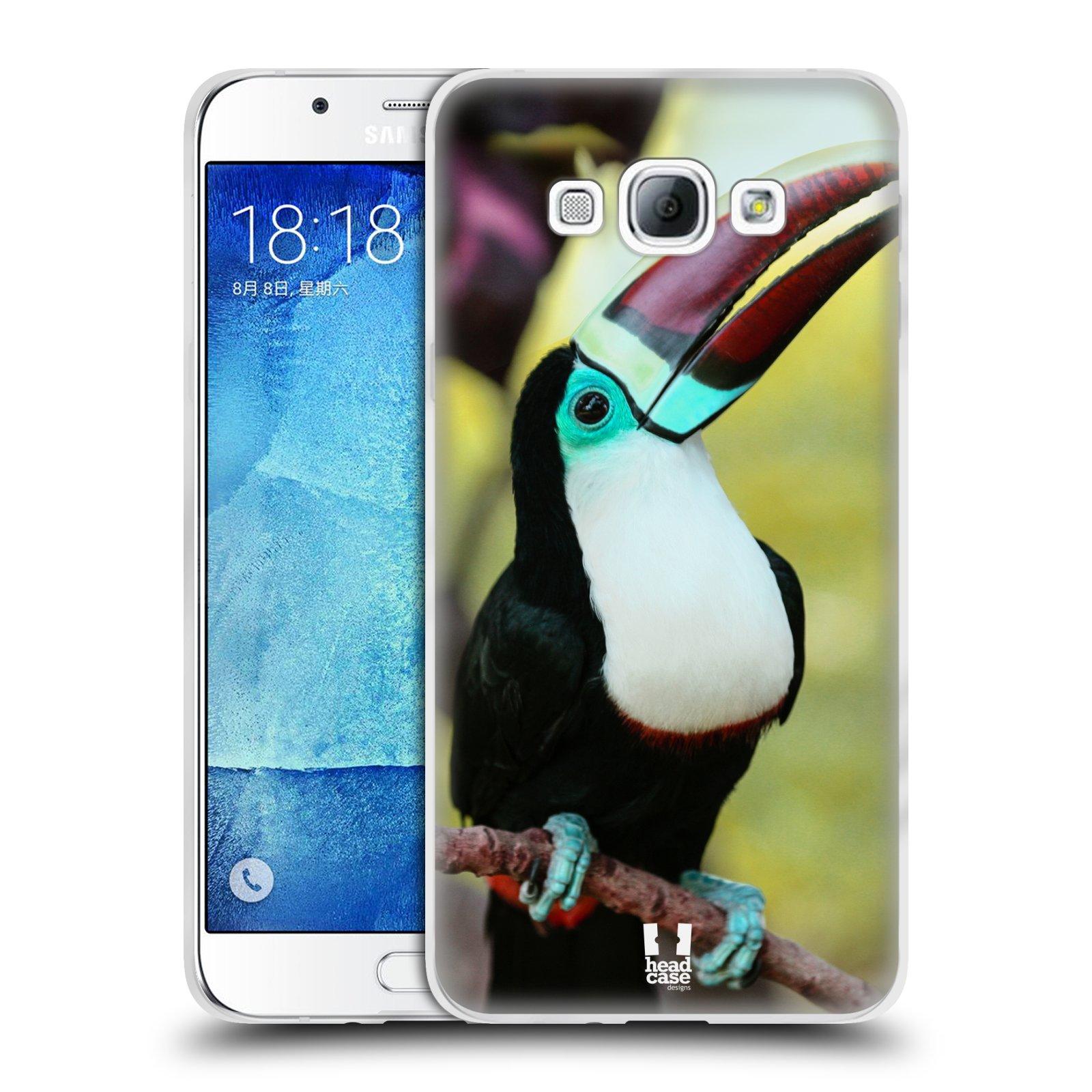 HEAD CASE silikonový obal na mobil Samsung Galaxy A8 vzor slavná zvířata foto tukan