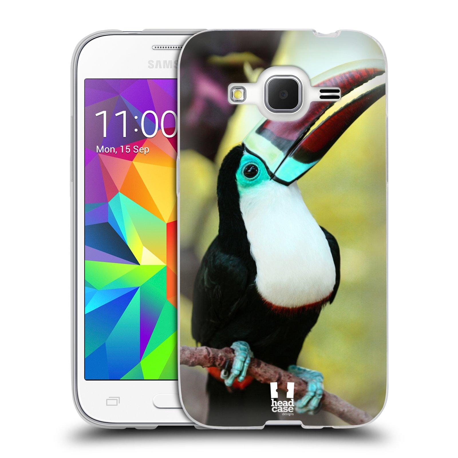 HEAD CASE silikonový obal na mobil Samsung Galaxy Core Prime (G360) vzor slavná zvířata foto tukan