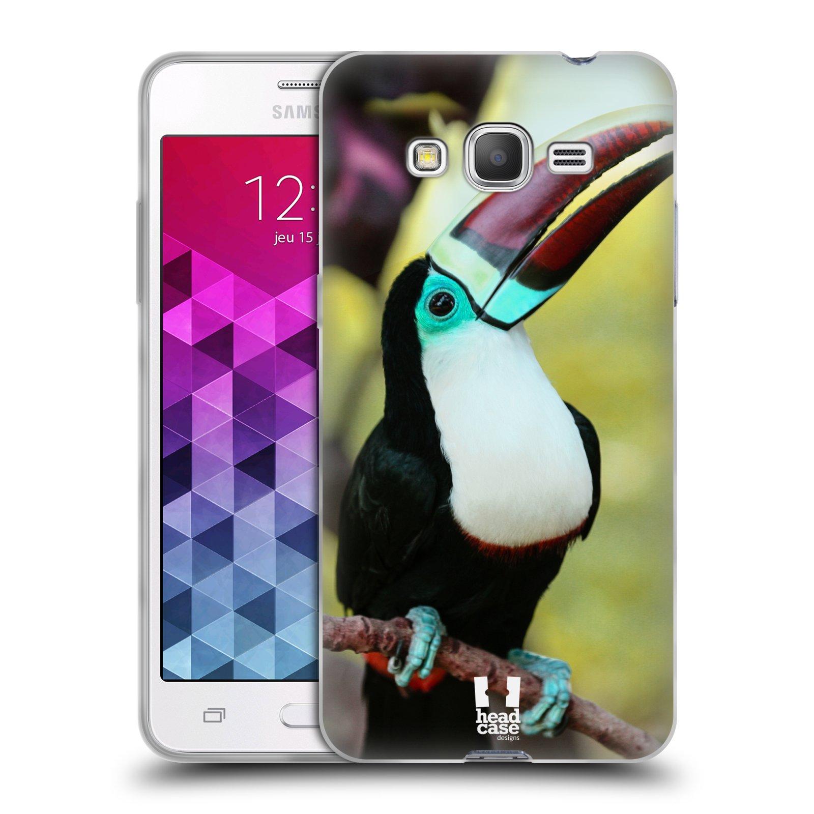 HEAD CASE silikonový obal na mobil Samsung Galaxy GRAND PRIME vzor slavná zvířata foto tukan