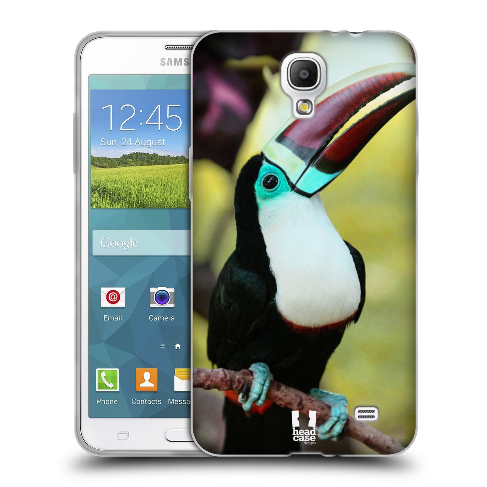 HEAD CASE silikonový obal na mobil Samsung Galaxy Mega 2 vzor slavná zvířata foto tukan