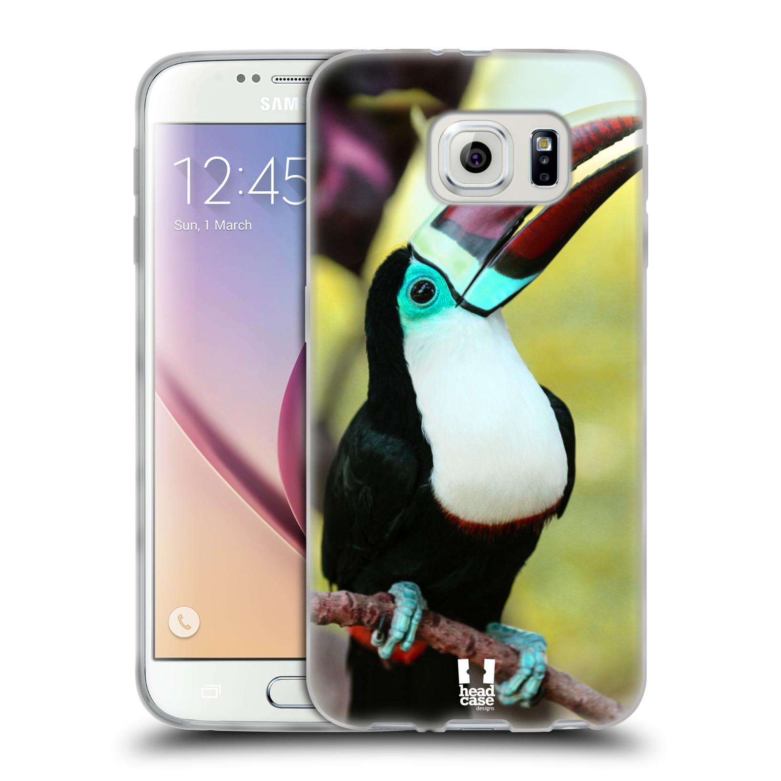 HEAD CASE silikonový obal na mobil Samsung Galaxy S6 vzor slavná zvířata foto tukan