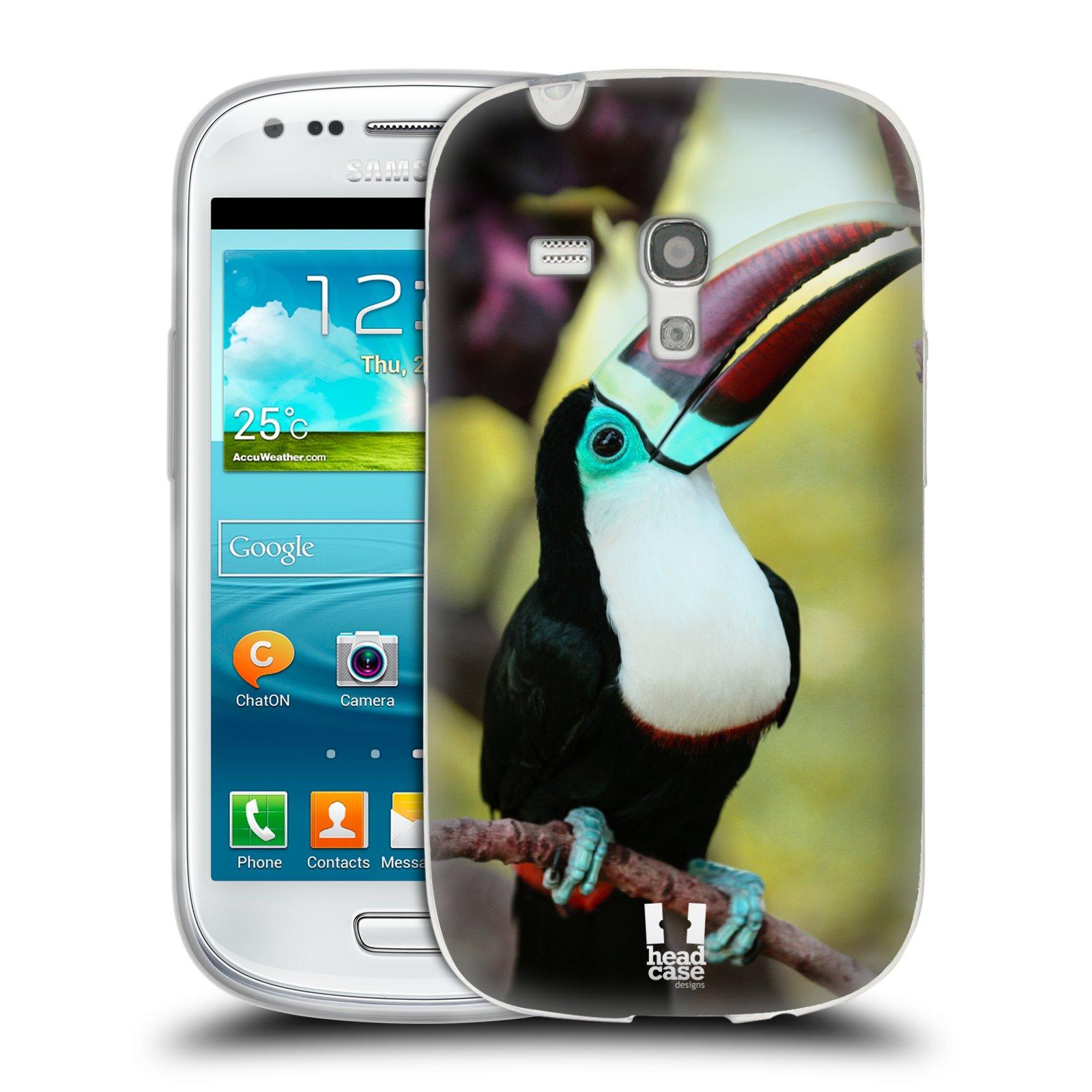 HEAD CASE silikonový obal na mobil Samsung Galaxy S3 MINI i8190 vzor slavná zvířata foto tukan