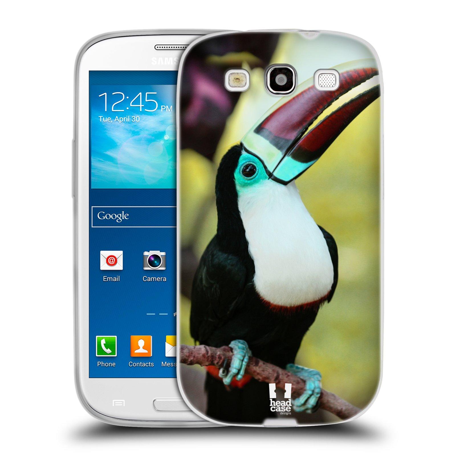 HEAD CASE silikonový obal na mobil Samsung Galaxy S3 i9300 vzor slavná zvířata foto tukan
