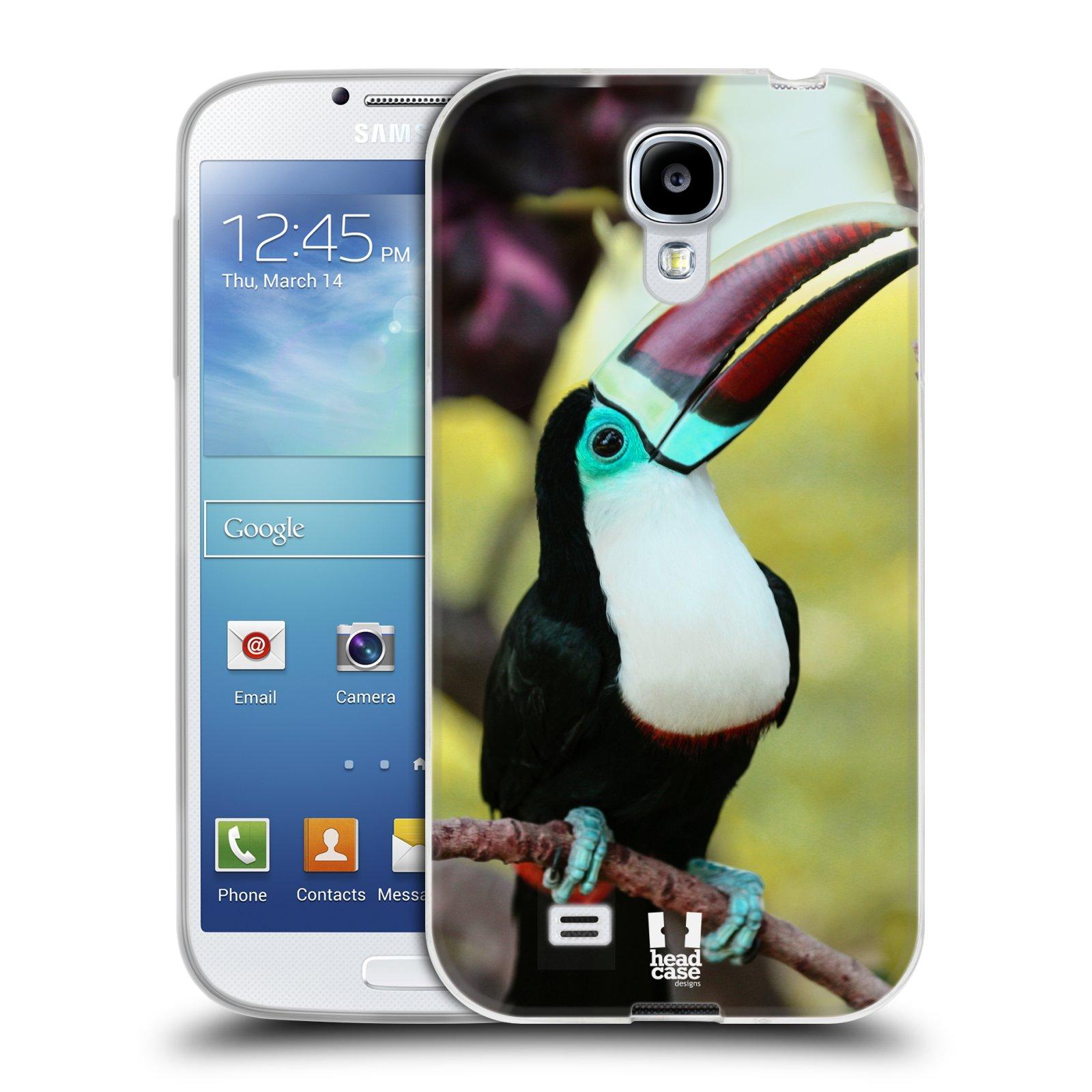 HEAD CASE silikonový obal na mobil Samsung Galaxy S4 i9500 vzor slavná zvířata foto tukan