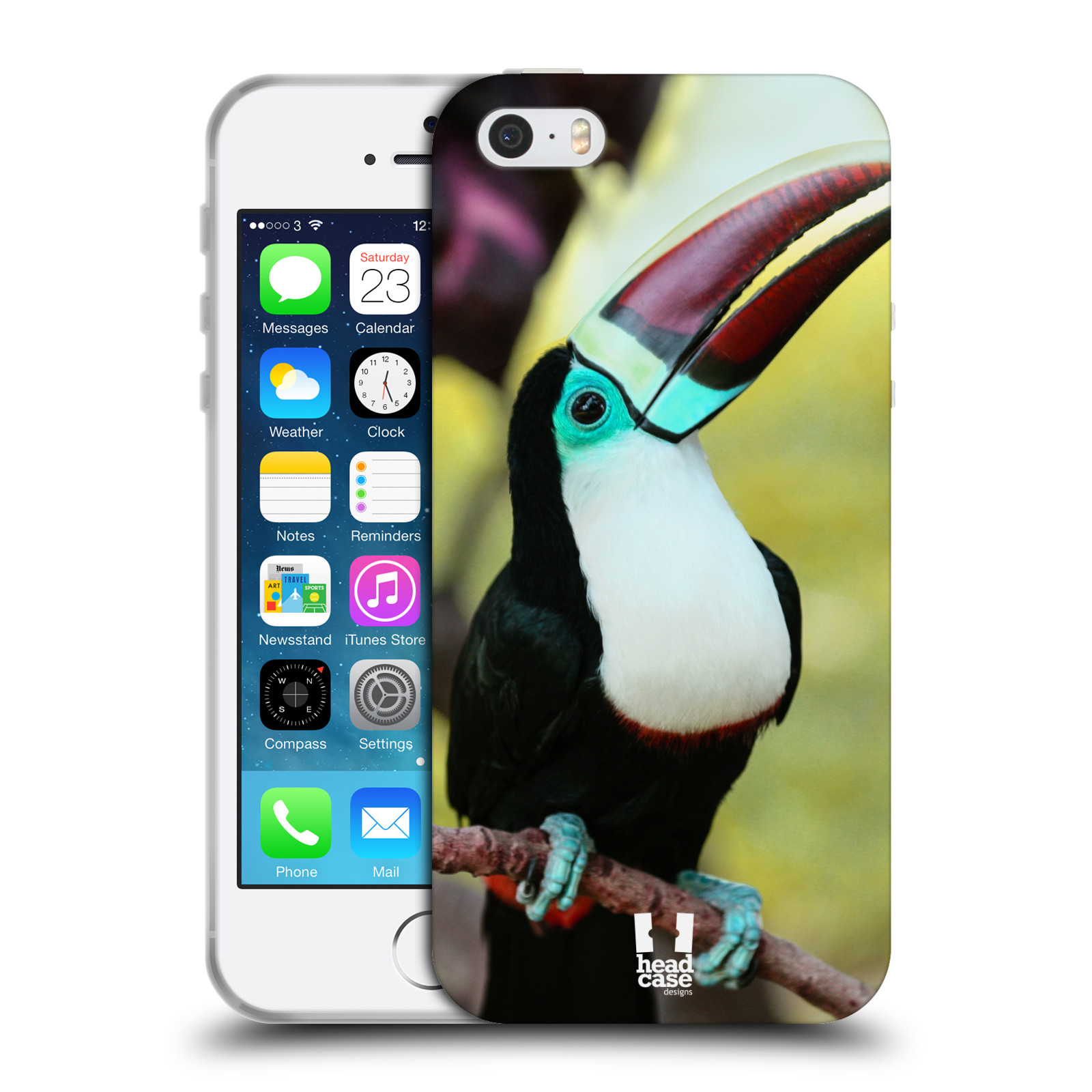 HEAD CASE silikonový obal na mobil Apple Iphone 5/5S vzor slavná zvířata foto tukan