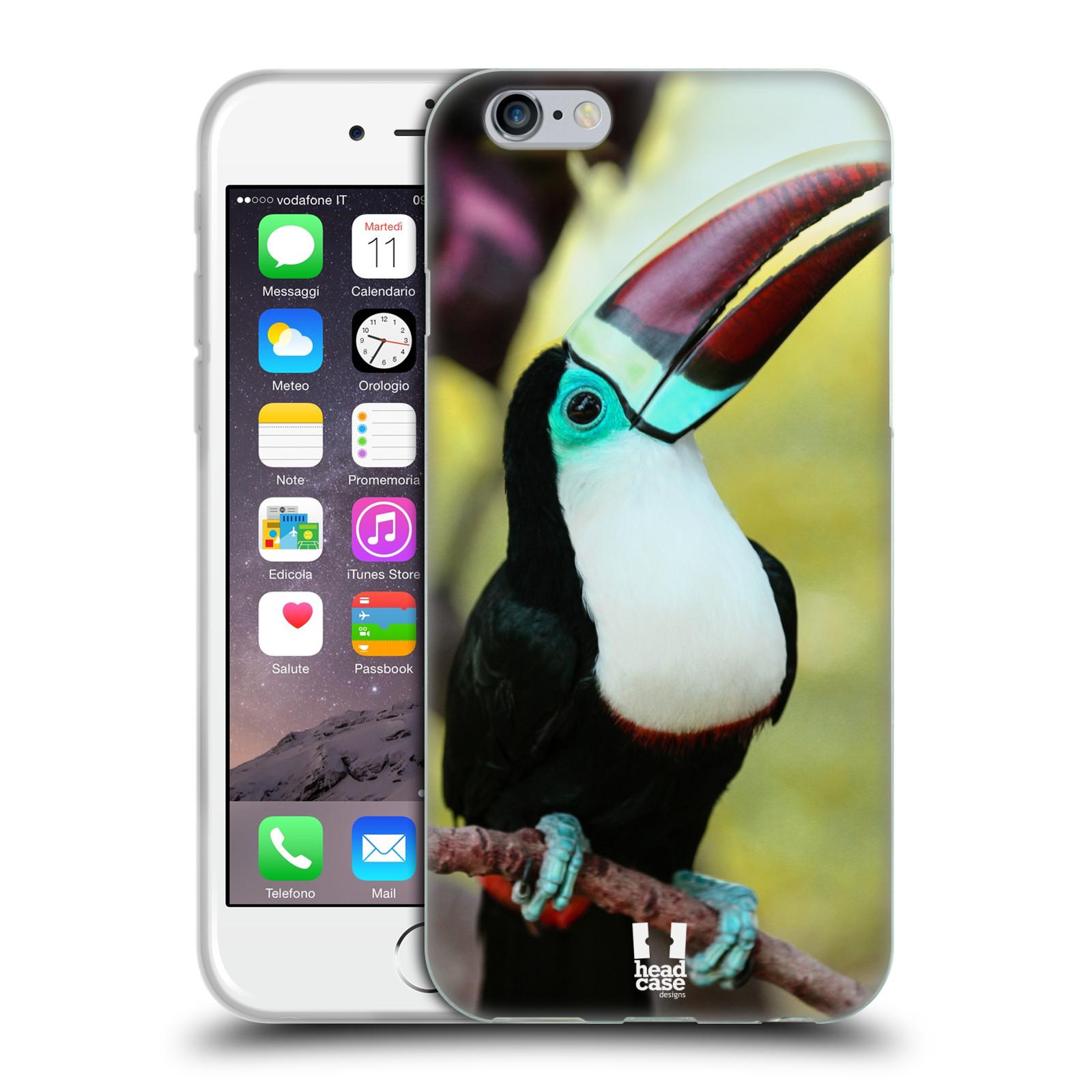 HEAD CASE silikonový obal na mobil Apple Iphone 6/6S vzor slavná zvířata foto tukan