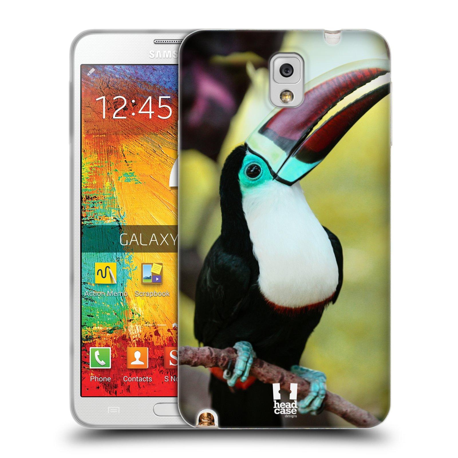 HEAD CASE silikonový obal na mobil Samsung Galaxy Note 3 (N9005) vzor slavná zvířata foto tukan