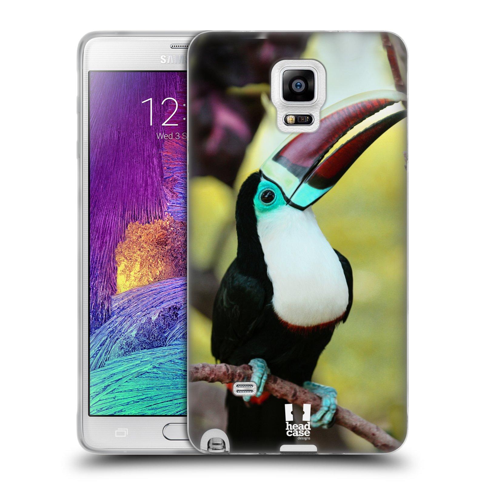 HEAD CASE silikonový obal na mobil Samsung Galaxy Note 4 (N910) vzor slavná zvířata foto tukan