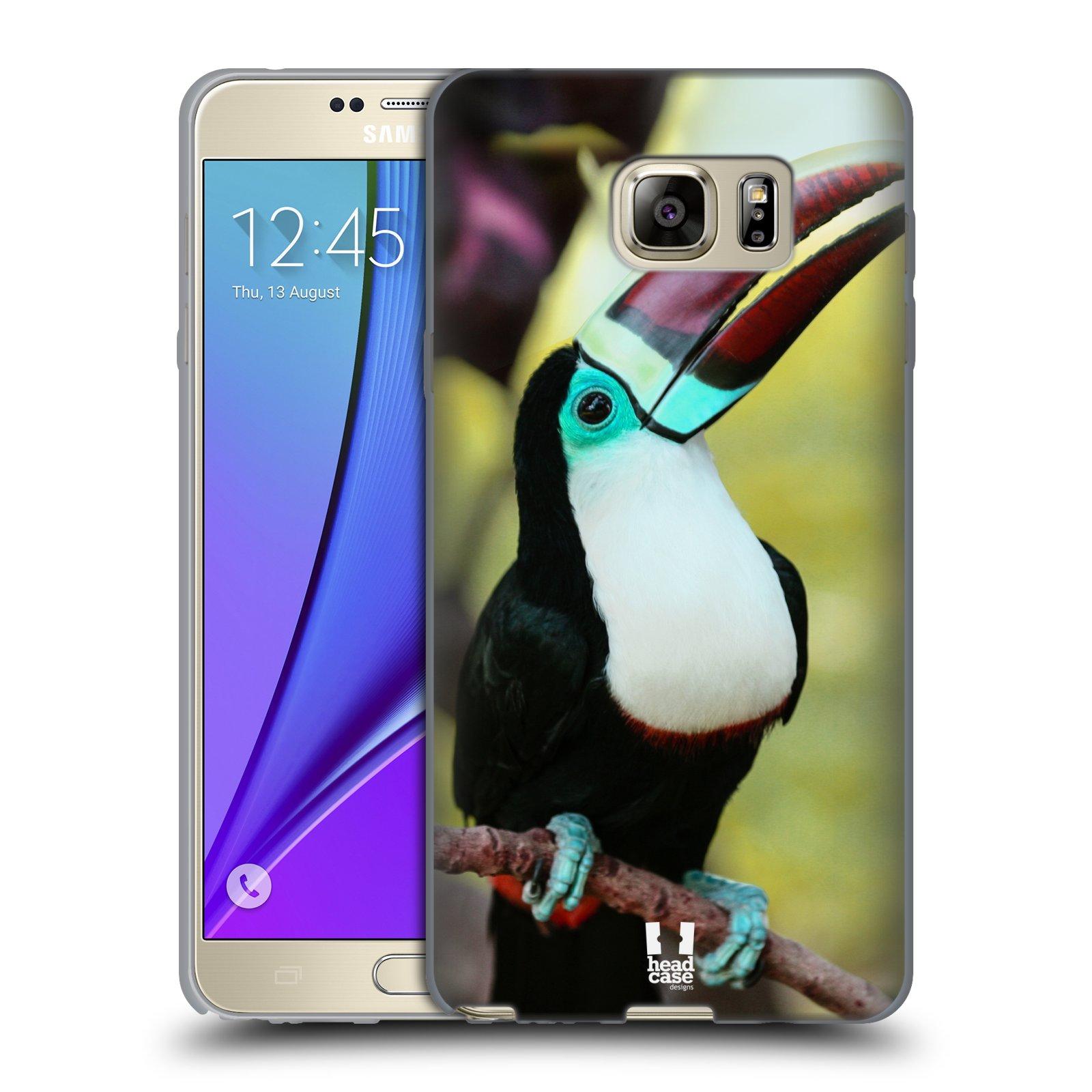 HEAD CASE silikonový obal na mobil Samsung Galaxy Note 5 (N920) vzor slavná zvířata foto tukan
