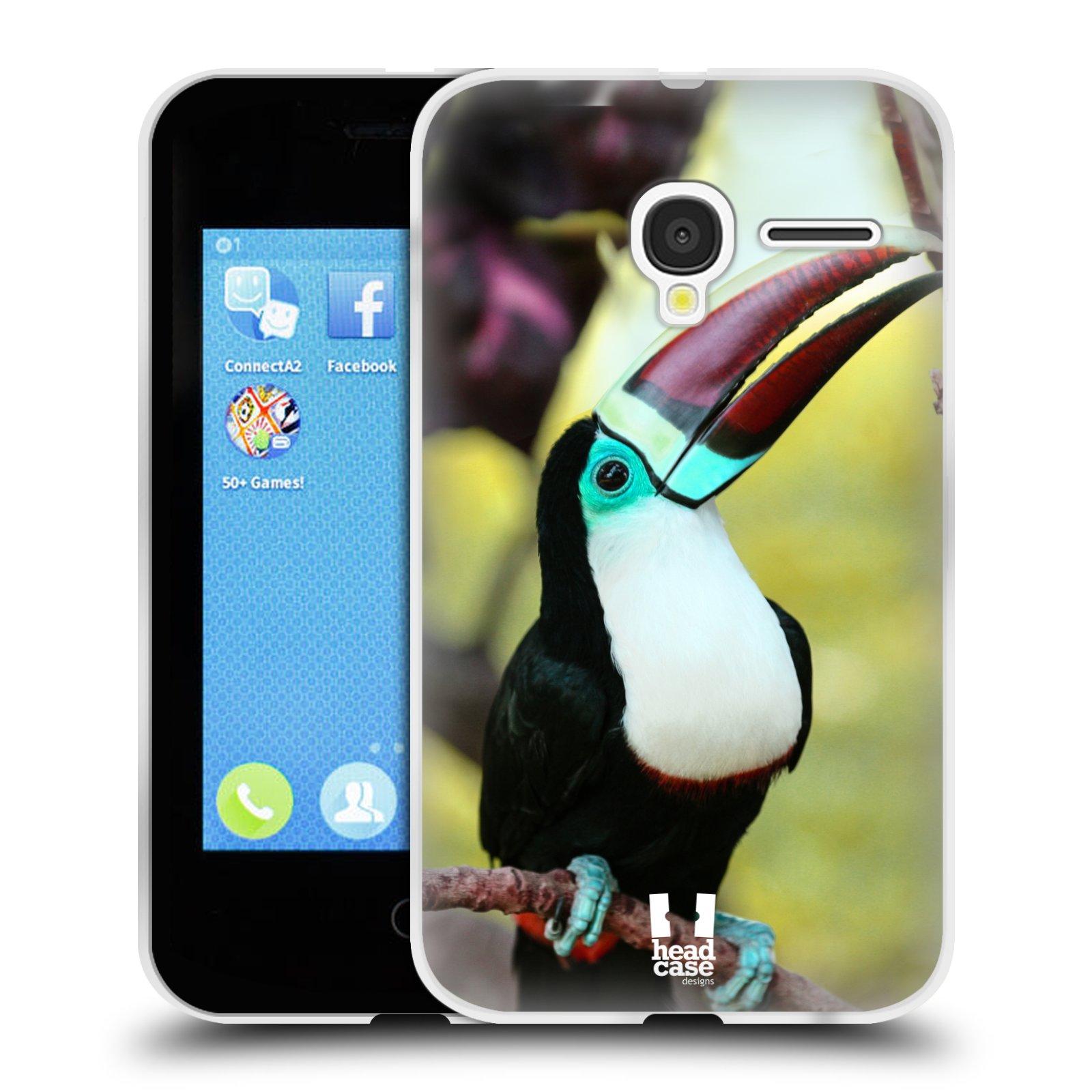 HEAD CASE silikonový obal na mobil Alcatel PIXI 3 OT-4022D (3,5 palcový displej) vzor slavná zvířata foto tukan