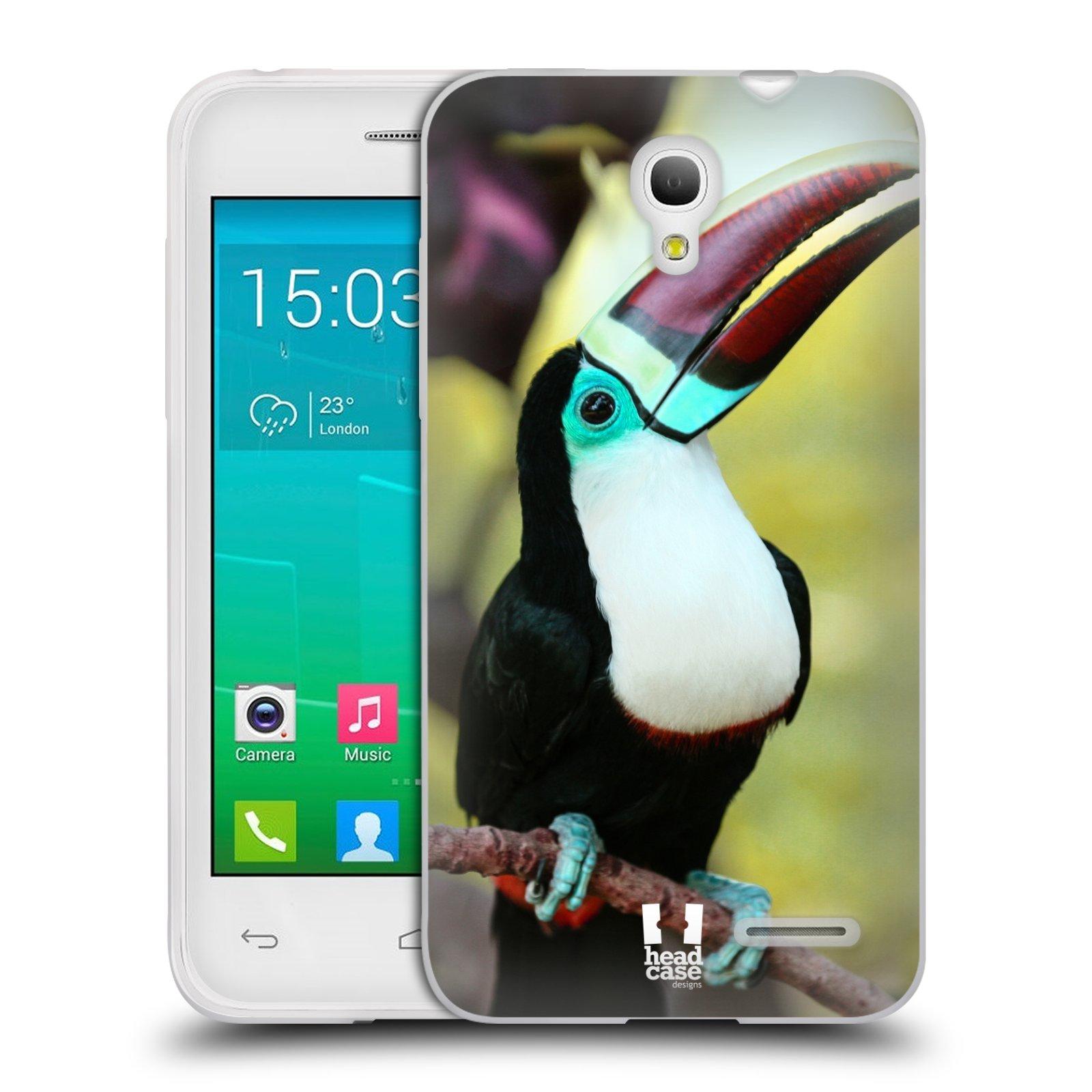 HEAD CASE silikonový obal na mobil Alcatel POP S3 OT-5050Y vzor slavná zvířata foto tukan