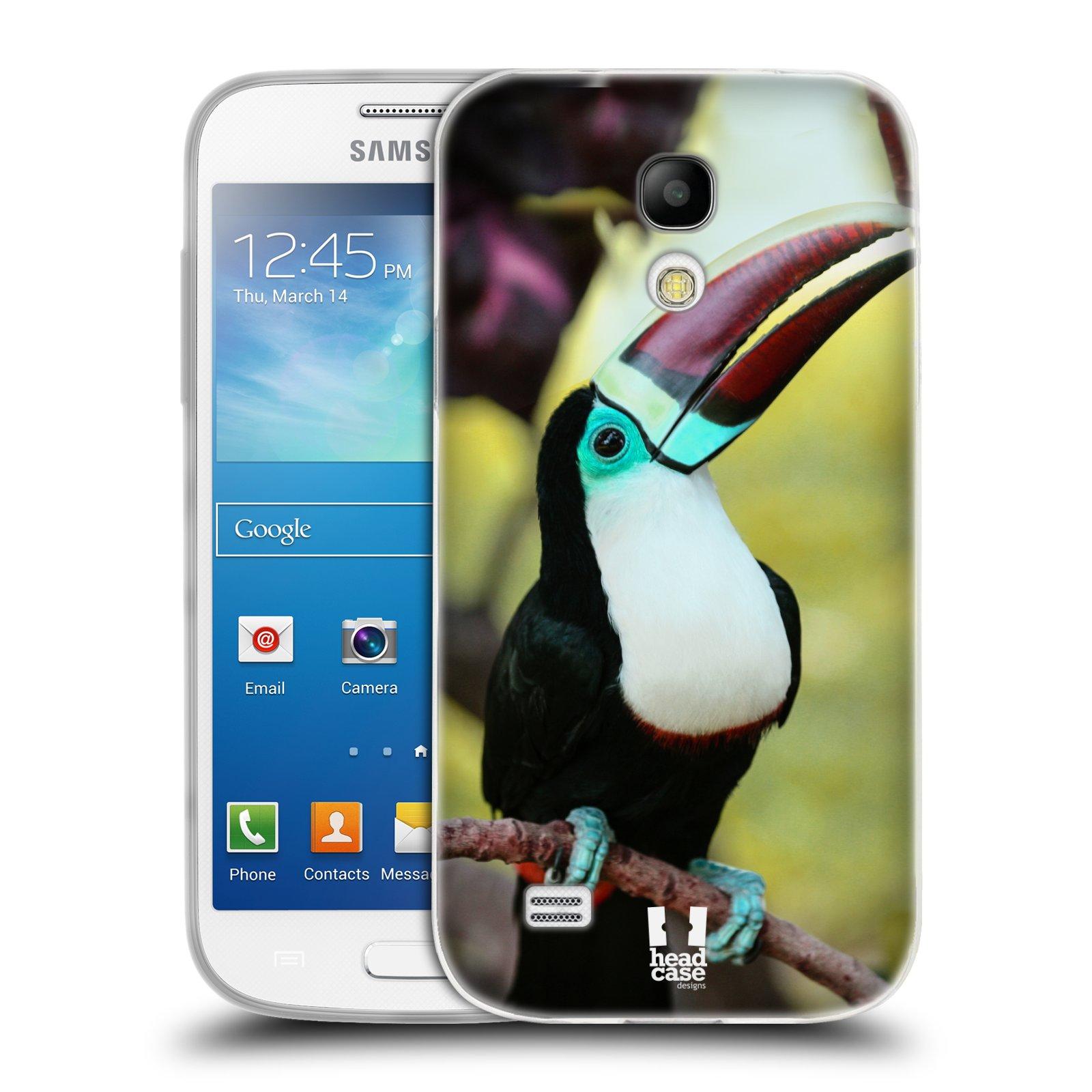 HEAD CASE silikonový obal na mobil Samsung Galaxy S4 MINI vzor slavná zvířata foto tukan
