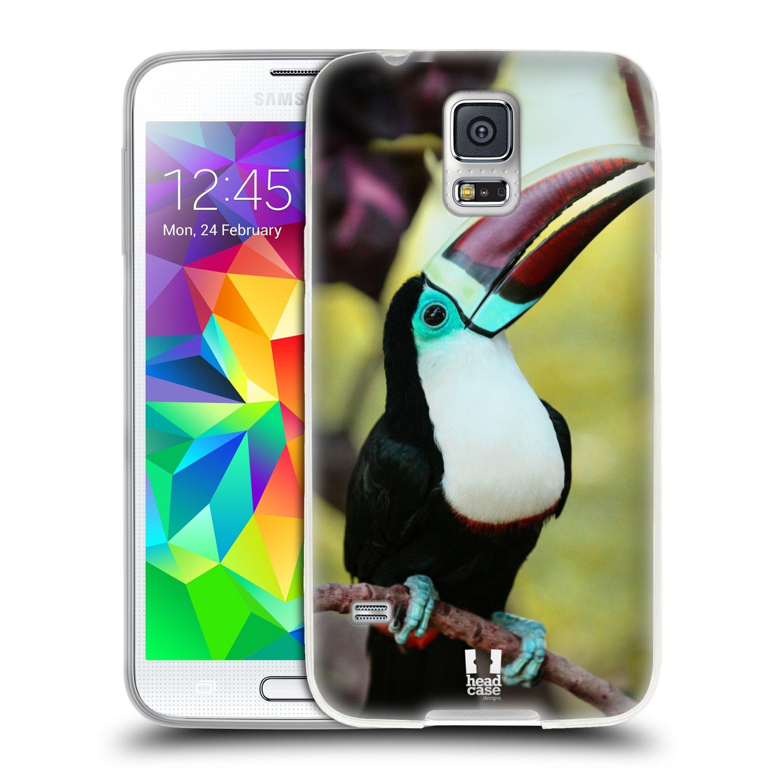 HEAD CASE silikonový obal na mobil Samsung Galaxy S5/S5 NEO vzor slavná zvířata foto tukan