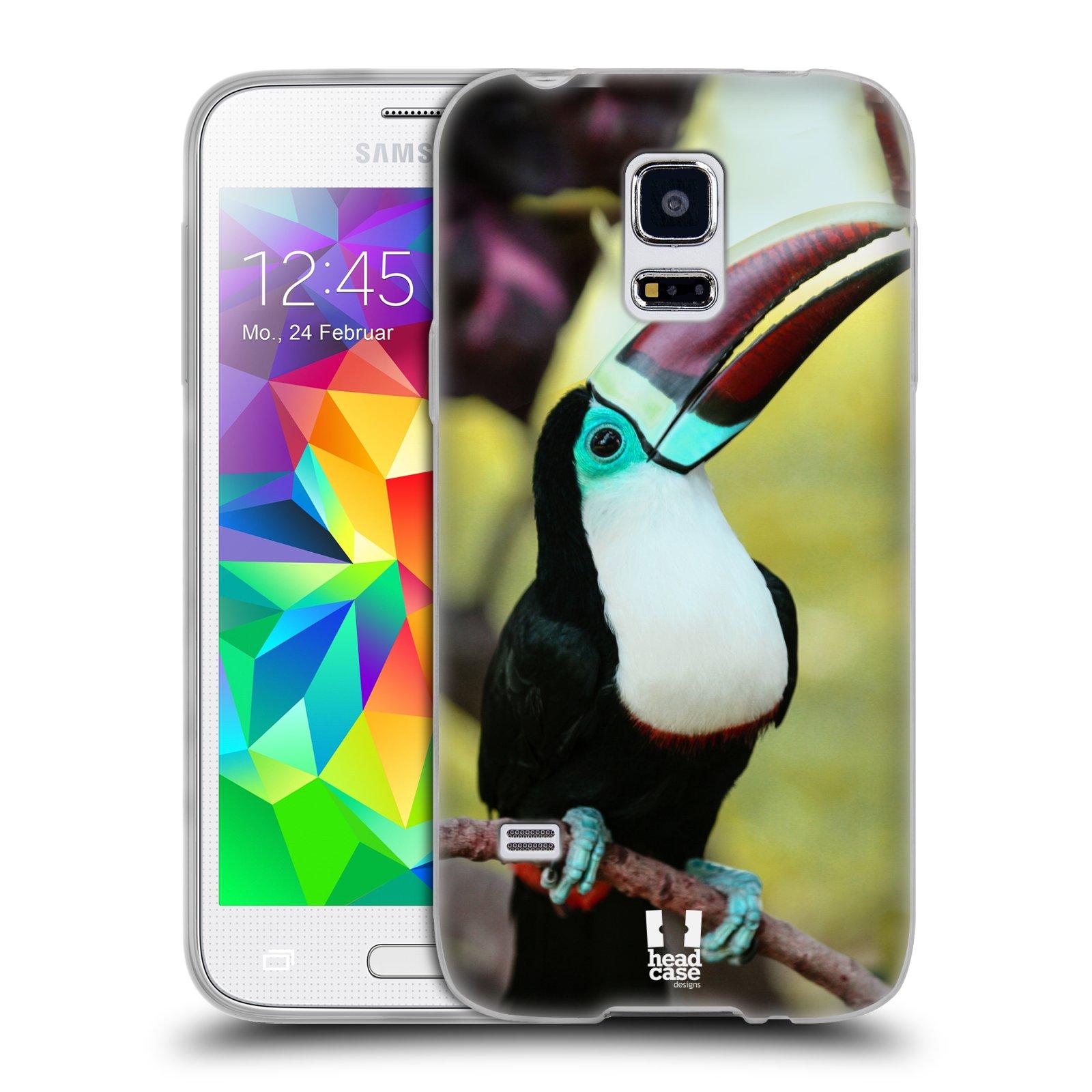 HEAD CASE silikonový obal na mobil Samsung Galaxy S5 MINI vzor slavná zvířata foto tukan