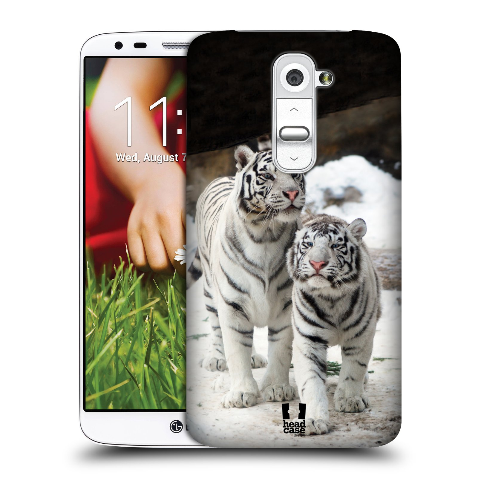 HEAD CASE DESIGNS FAMOUS ANIMALS HARD BACK CASE COVER FOR LG G2 D802