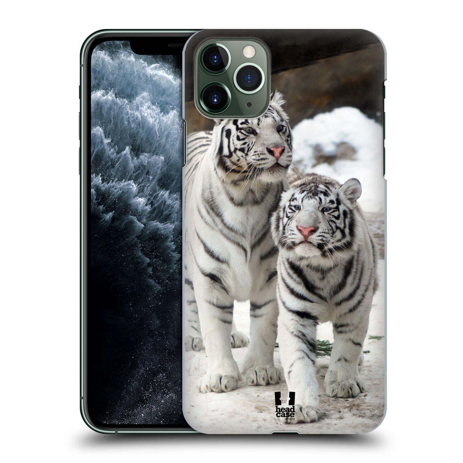 Pouzdro na mobil Apple Iphone 11 PRO MAX - HEAD CASE - vzor slavná zvířata foto dva bílí tygři