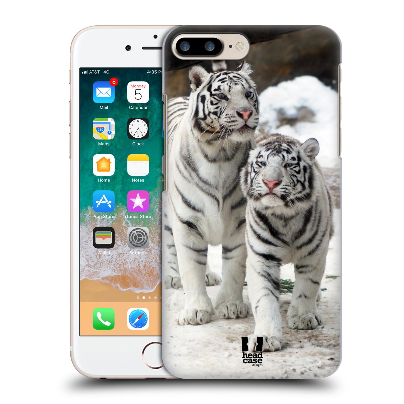 HEAD CASE plastový obal na mobil Apple Iphone 7 PLUS vzor slavná zvířata foto dva bílí tygři