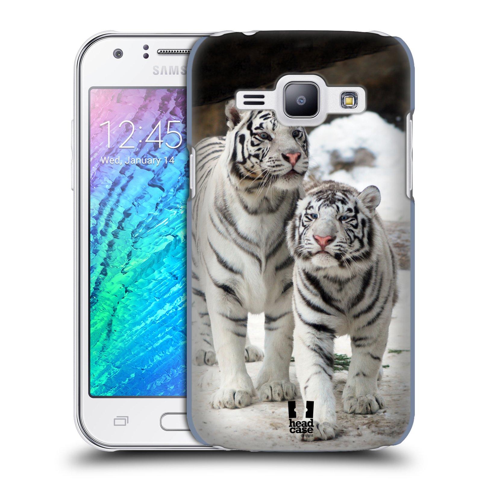 HEAD CASE plastový obal na mobil SAMSUNG Galaxy J1, J100 vzor slavná zvířata foto dva bílí tygři
