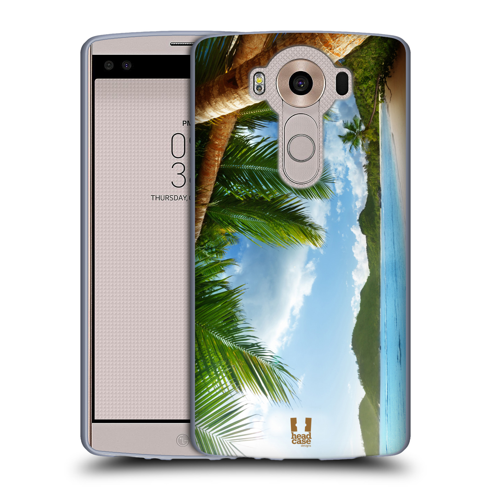 HEAD CASE silikonový obal na mobil LG V10 (H960A) vzor Pláže a Moře PLÁŽ A PALMY